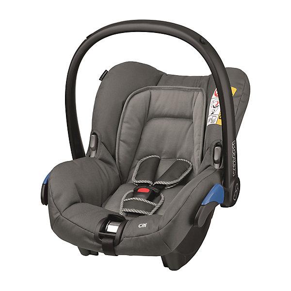 Автокресло Maxi-Cosi Citi 0-13 кг, Concrete greyГруппа 0+  (до 13 кг)<br>Надежное высокотехнологичное автокресло-переноска позволит перевозить ребенка, не беспокоясь при этом о его безопасности. Оно предназначено для предназначено для детей весом  до 13 килограмм. Такое кресло обеспечит малышу не только безопасность, но и удобство (регулируемая длина внутренних ремней и анатомическая подушка). Ребенок надежно фиксируется в кресле и ездит с комфортом.<br>Автокресло устанавливают против движения. Такое кресло дает возможность свободно путешествовать, ездить в гости и при этом  быть рядом с малышом. Конструкция - очень удобная и прочная. Изделие произведено из качественных и безопасных для малышей материалов, оно соответствуют всем современным требованиям безопасности. Оно отлично показало себя на краш-тестах.<br> <br>Дополнительная информация:<br><br>цвет: серый;<br>материал: текстиль, пластик;<br>вес ребенка:  от 0 до 13 кг;<br>вес кресла: 2,75 кг;<br>карман для вещей;<br>анатомическая подушка;<br>внутренние ремни - пятиточечные, с мягкими накладками;<br>регулировка высоты внутренних ремней;<br>регулировка наклона спинки;<br>регулировка высоты подголовника;<br>дополнительная защита от боковых ударов;<br>съемный чехол;<br>ручка для переноски;<br>тент от солнца.<br><br>Автокресло Citi 0-13 кг., Concrete grey от компании Maxi-Cosi можно купить в нашем магазине.<br><br>Ширина мм: 440<br>Глубина мм: 710<br>Высота мм: 570<br>Вес г: 3550<br>Возраст от месяцев: 0<br>Возраст до месяцев: 12<br>Пол: Унисекс<br>Возраст: Детский<br>SKU: 4709545