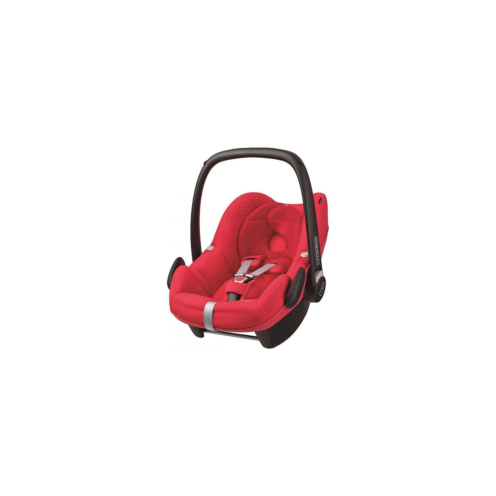 Автокресло Maxi-Cosi Pebble 0-13 кг, Origami RedГруппа 0+ (До 13 кг)<br>Надежное высокотехнологичное автокресло-переноска позволит перевозить ребенка, не беспокоясь при этом о его безопасности. Оно предназначено для предназначено для детей весом  до 13 килограмм. Такое кресло обеспечит малышу не только безопасность, но и удобство (регулируемая длина внутренних ремней и анатомическая подушка). Ребенок надежно фиксируется в кресле и ездит с комфортом.<br>Автокресло устанавливают против движения. Такое кресло дает возможность свободно путешествовать, ездить в гости и при этом  быть рядом с малышом. Конструкция - очень удобная и прочная. Изделие произведено из качественных и безопасных для малышей материалов, оно соответствуют всем современным требованиям безопасности. Оно отлично показало себя на краш-тестах.<br> <br>Дополнительная информация:<br><br>цвет: красный;<br>материал: текстиль, пластик;<br>вес ребенка:  от 0 до 13 кг;<br>вес кресла: 4 кг;<br>использование в качестве качалки;<br>анатомическая подушка;<br>внутренние ремни - трехточечные, с мягкими накладками;<br>регулировка высоты внутренних ремней;<br>дополнительная защита от боковых ударов;<br>регулировка глубины кресла в соответствии с весом ребенка;<br>ручка для переноски;<br>тент от солнца.<br><br>Автокресло Pebble 0-13 кг.,  Origami Red от компании Maxi-Cosi можно купить в нашем магазине.<br><br>Ширина мм: 445<br>Глубина мм: 375<br>Высота мм: 725<br>Вес г: 4000<br>Возраст от месяцев: 0<br>Возраст до месяцев: 12<br>Пол: Унисекс<br>Возраст: Детский<br>SKU: 4709559