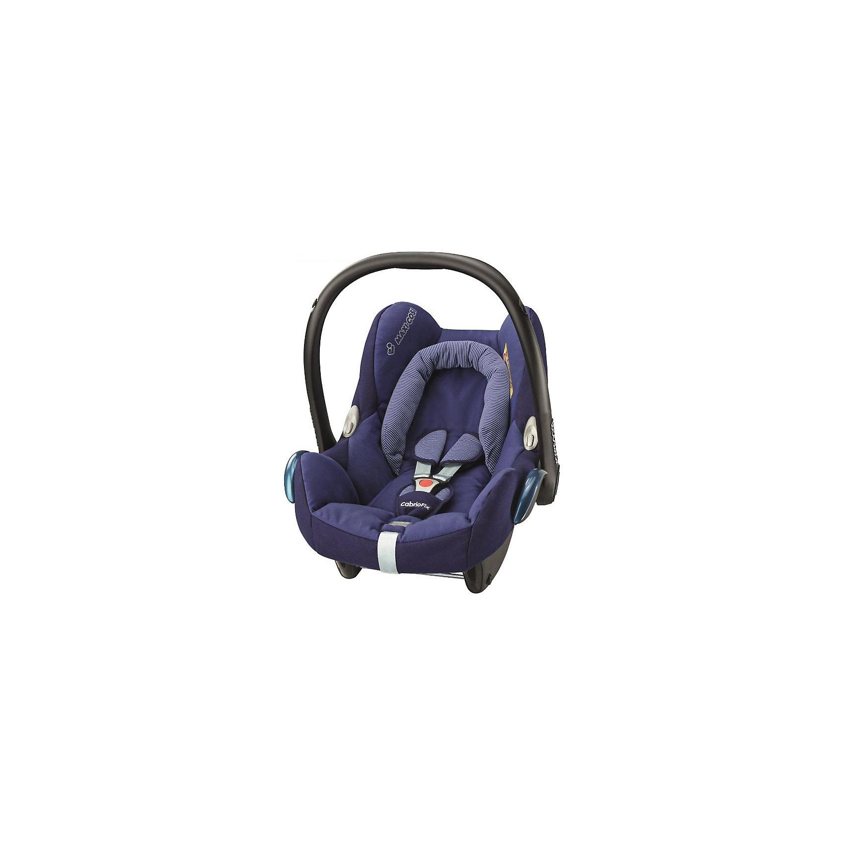Автокресло Maxi-Cosi CabrioFix 0-13 кг, River BlueГруппа 0+ (До 13 кг)<br>Удобное высокотехнологичное автокресло-переноска позволит перевозить ребенка, не беспокоясь при этом о его безопасности. Оно предназначено для предназначено для детей весом  до 13 килограмм. Такое кресло обеспечит малышу не только безопасность, но и удобство (тент от солнца а и анатомическая подушка). Ребенок надежно фиксируется в кресле и ездит с комфортом.<br>Автокресло устанавливают против движения. Такое кресло дает возможность свободно путешествовать, ездить в гости и при этом  быть рядом с малышом. Конструкция - очень удобная и прочная. Изделие произведено из качественных и безопасных для малышей материалов, оно соответствуют всем современным требованиям безопасности. Оно отлично показало себя на краш-тестах.<br> <br>Дополнительная информация:<br><br>цвет: синий;<br>материал: текстиль, пластик;<br>вес ребенка:  от 0 до 13 кг;<br>вес кресла: 3,5 кг;<br>съемный чехол;<br>карман для вещей;<br>анатомическая подушка;<br>внутренние ремни - трехточечные, с мягкими накладками;<br>регулировка высоты внутренних ремней;<br>регулировка наклона спинки;<br>регулировка высоты подголовника;<br>ручка для переноски;<br>тент от солнца.<br><br>Автокресло CabrioFix 0-13 кг., River Blue от компании Maxi-Cosi можно купить в нашем магазине.<br><br>Ширина мм: 445<br>Глубина мм: 375<br>Высота мм: 725<br>Вес г: 3300<br>Возраст от месяцев: 0<br>Возраст до месяцев: 12<br>Пол: Унисекс<br>Возраст: Детский<br>SKU: 4709563
