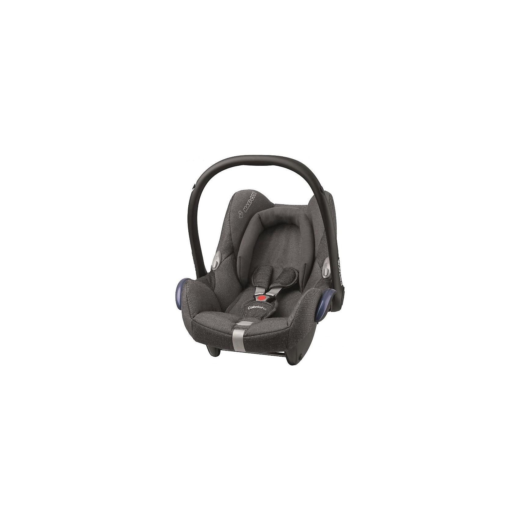 Автокресло CabrioFix 0-13 кг., Maxi-Cosi, Sparcling GreyУдобное высокотехнологичное автокресло-переноска позволит перевозить ребенка, не беспокоясь при этом о его безопасности. Оно предназначено для предназначено для детей весом  до 13 килограмм. Такое кресло обеспечит малышу не только безопасность, но и удобство (тент от солнца а и анатомическая подушка). Ребенок надежно фиксируется в кресле и ездит с комфортом.<br>Автокресло устанавливают против движения. Такое кресло дает возможность свободно путешествовать, ездить в гости и при этом  быть рядом с малышом. Конструкция - очень удобная и прочная. Изделие произведено из качественных и безопасных для малышей материалов, оно соответствуют всем современным требованиям безопасности. Оно отлично показало себя на краш-тестах.<br> <br>Дополнительная информация:<br><br>цвет: серый;<br>материал: текстиль, пластик;<br>вес ребенка:  от 0 до 13 кг;<br>вес кресла: 3,5 кг;<br>съемный чехол;<br>карман для вещей;<br>анатомическая подушка;<br>внутренние ремни - трехточечные, с мягкими накладками;<br>регулировка высоты внутренних ремней;<br>регулировка наклона спинки;<br>регулировка высоты подголовника;<br>ручка для переноски;<br>тент от солнца.<br><br>Автокресло CabrioFix 0-13 кг., Sparcling Grey от компании Maxi-Cosi можно купить в нашем магазине.<br><br>Ширина мм: 445<br>Глубина мм: 375<br>Высота мм: 725<br>Вес г: 3300<br>Возраст от месяцев: 0<br>Возраст до месяцев: 12<br>Пол: Унисекс<br>Возраст: Детский<br>SKU: 4709565
