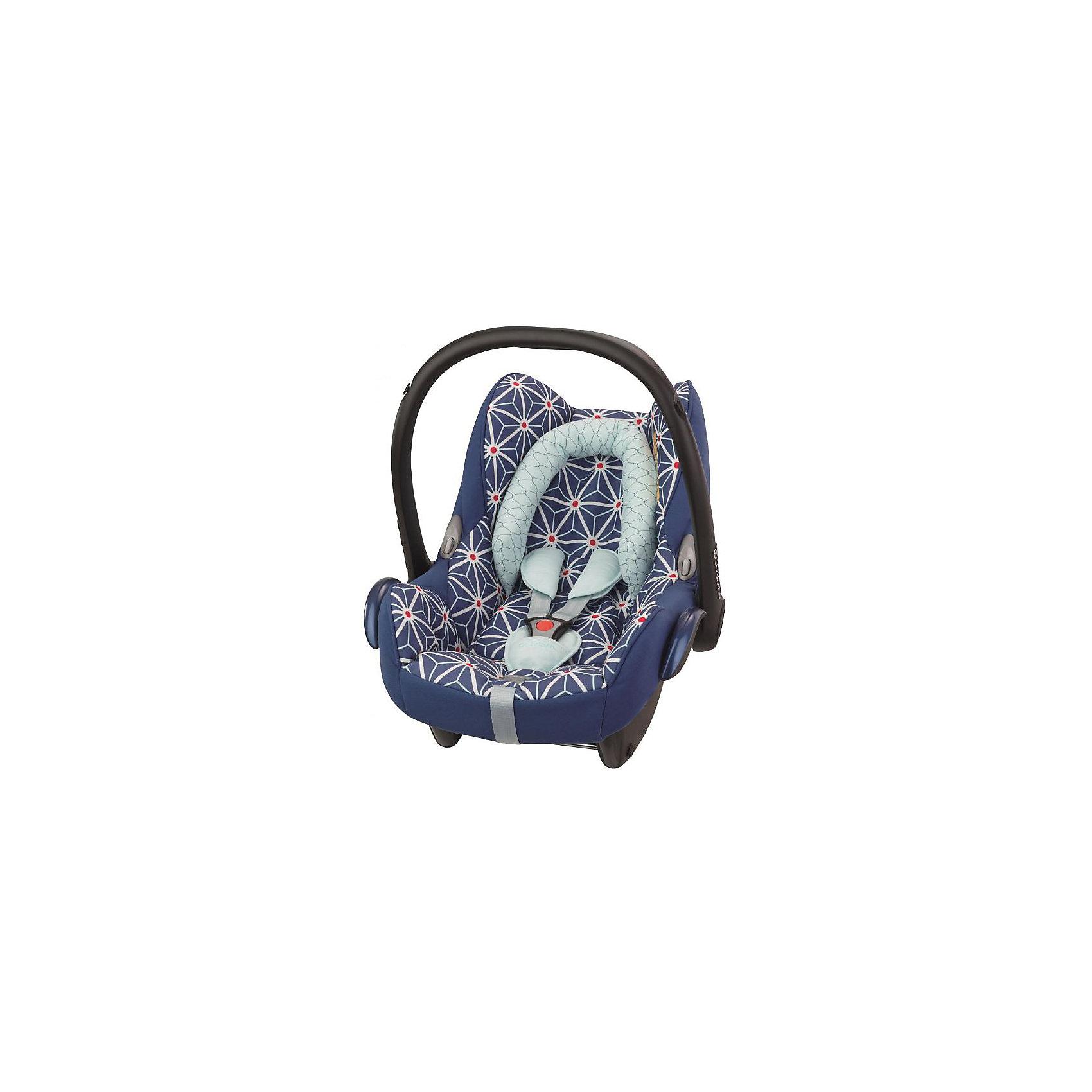 Автокресло CabrioFix 0-13 кг., Maxi-Cosi, StarУдобное высокотехнологичное автокресло-переноска позволит перевозить ребенка, не беспокоясь при этом о его безопасности. Оно предназначено для предназначено для детей весом  до 13 килограмм. Такое кресло обеспечит малышу не только безопасность, но и удобство (тент от солнца а и анатомическая подушка). Ребенок надежно фиксируется в кресле и ездит с комфортом.<br>Автокресло устанавливают против движения. Такое кресло дает возможность свободно путешествовать, ездить в гости и при этом  быть рядом с малышом. Конструкция - очень удобная и прочная. Изделие произведено из качественных и безопасных для малышей материалов, оно соответствуют всем современным требованиям безопасности. Оно отлично показало себя на краш-тестах.<br> <br>Дополнительная информация:<br><br>цвет: разноцветный;<br>материал: текстиль, пластик;<br>вес ребенка:  от 0 до 13 кг;<br>вес кресла: 3,5 кг;<br>съемный чехол;<br>карман для вещей;<br>анатомическая подушка;<br>внутренние ремни - трехточечные, с мягкими накладками;<br>регулировка высоты внутренних ремней;<br>регулировка наклона спинки;<br>регулировка высоты подголовника;<br>ручка для переноски;<br>тент от солнца.<br><br>Автокресло CabrioFix 0-13 кг., Star от компании Maxi-Cosi можно купить в нашем магазине.<br><br>Ширина мм: 445<br>Глубина мм: 375<br>Высота мм: 725<br>Вес г: 3300<br>Возраст от месяцев: 0<br>Возраст до месяцев: 12<br>Пол: Унисекс<br>Возраст: Детский<br>SKU: 4709566