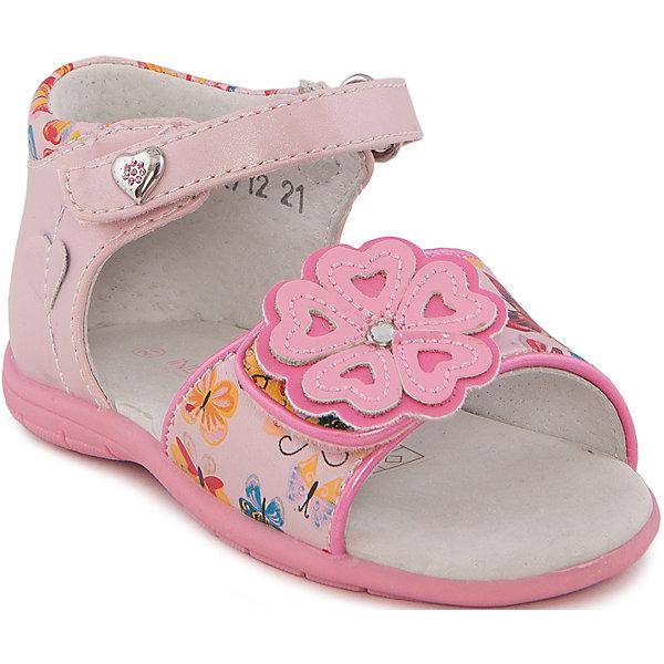 Купить Сандалии для девочки Indigo kids, Китай, розовый, 21, 26, 22, 24, 23, 25, Женский