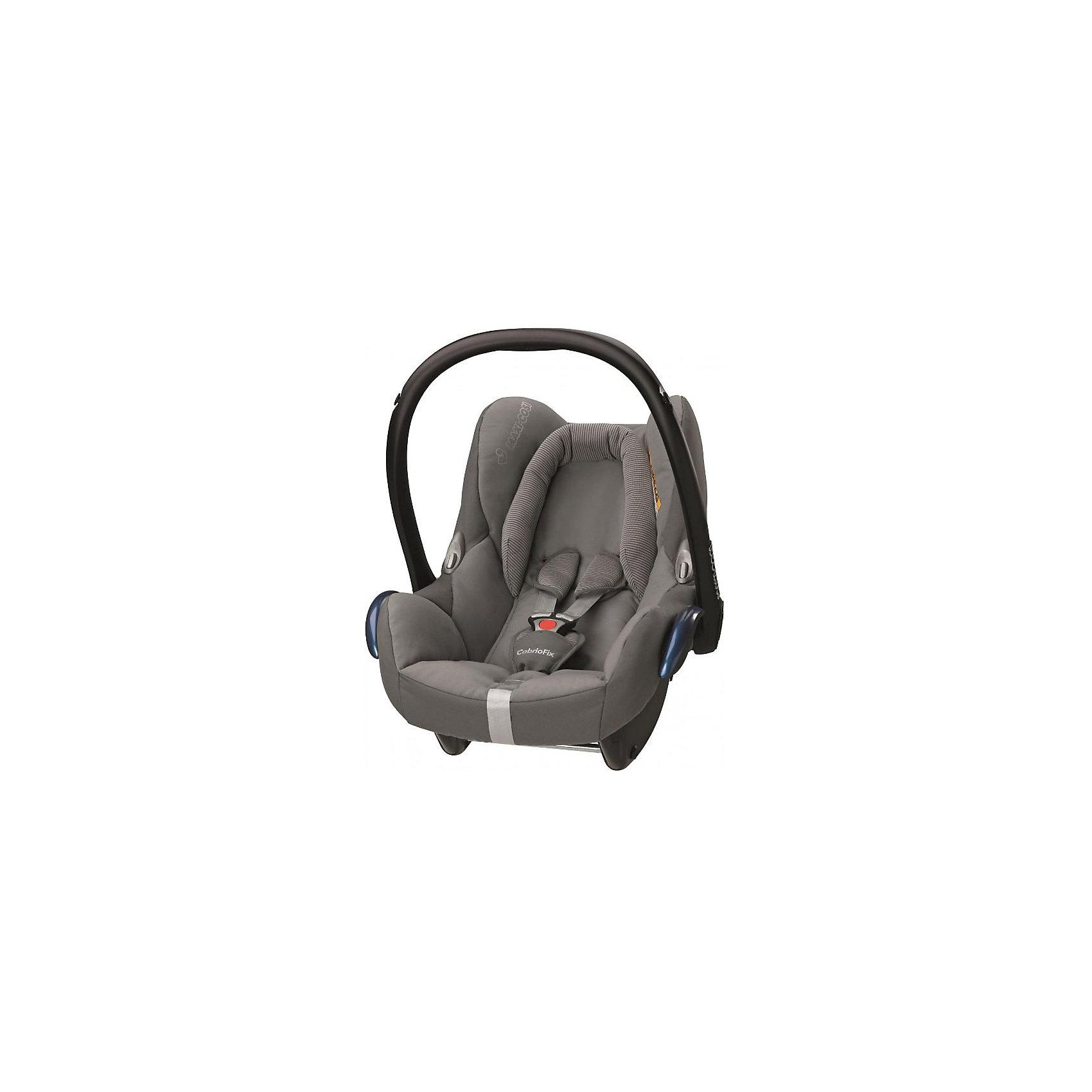 Автокресло Maxi-Cosi CabrioFix 0-13 кг, concrite greyГруппа 0+ (До 13 кг)<br>Удобное высокотехнологичное автокресло-переноска позволит перевозить ребенка, не беспокоясь при этом о его безопасности. Оно предназначено для предназначено для детей весом  до 13 килограмм. Такое кресло обеспечит малышу не только безопасность, но и удобство (тент от солнца а и анатомическая подушка). Ребенок надежно фиксируется в кресле и ездит с комфортом.<br>Автокресло устанавливают против движения. Такое кресло дает возможность свободно путешествовать, ездить в гости и при этом  быть рядом с малышом. Конструкция - очень удобная и прочная. Изделие произведено из качественных и безопасных для малышей материалов, оно соответствуют всем современным требованиям безопасности. Оно отлично показало себя на краш-тестах.<br> <br>Дополнительная информация:<br><br>цвет: серый;<br>материал: текстиль, пластик;<br>вес ребенка:  от 0 до 13 кг;<br>вес кресла: 3,5 кг;<br>съемный чехол;<br>карман для вещей;<br>анатомическая подушка;<br>внутренние ремни - трехточечные, с мягкими накладками;<br>регулировка высоты внутренних ремней;<br>регулировка наклона спинки;<br>регулировка высоты подголовника;<br>ручка для переноски;<br>тент от солнца.<br><br>Автокресло CabrioFix 0-13 кг., конкрит грей от компании Maxi-Cosi можно купить в нашем магазине.<br><br>Ширина мм: 445<br>Глубина мм: 375<br>Высота мм: 725<br>Вес г: 3300<br>Цвет: серый<br>Возраст от месяцев: 0<br>Возраст до месяцев: 12<br>Пол: Унисекс<br>Возраст: Детский<br>SKU: 4709797