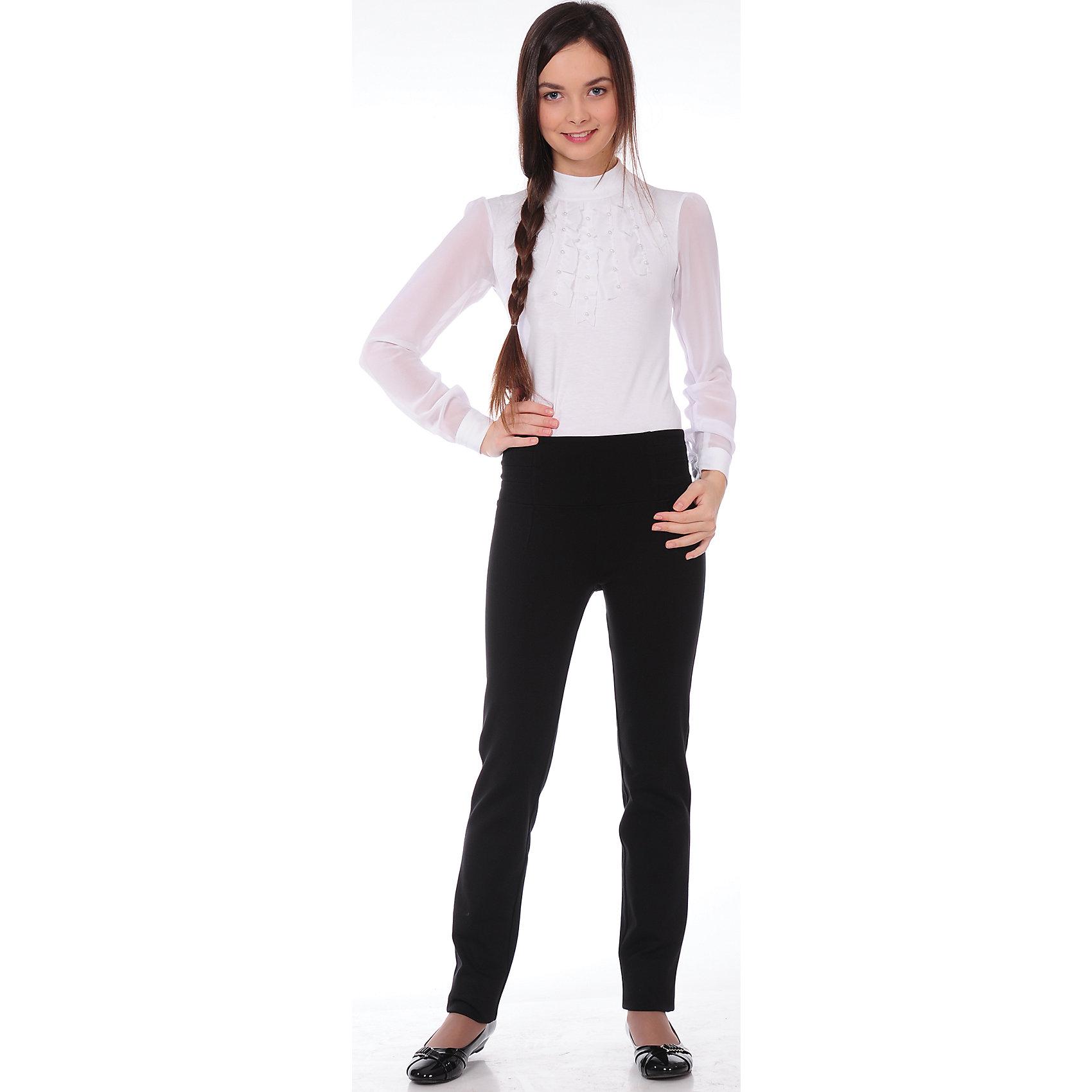Брюки для девочки Агат SkylakeБрюки<br>Брюки для девочки Агат от известного бренда Skylake<br>Классические   длинные зауженные брюки  для девочек среднего и старшего  возраста. <br>Изготовлены  из однотонной ткани рио-габардин черного  цвета.<br>Пояс брюк с застежкой на одну пуговицу и шлевками для<br>ремня. Ремень в состав изделия не входит.<br>Застежка - гульфик на  молнии. <br>На передних половинках брюк имеются боковые косые карманы.<br>Комплектуются с жакетом ШФ-99, ШФ-334 или жилетом ШФ-337. <br>Состав:<br>60%п/э,35%виск,5%лайкра (ПУ)<br><br>Ширина мм: 215<br>Глубина мм: 88<br>Высота мм: 191<br>Вес г: 336<br>Цвет: черный<br>Возраст от месяцев: 132<br>Возраст до месяцев: 144<br>Пол: Женский<br>Возраст: Детский<br>Размер: 152,146,170,164,158<br>SKU: 4709845