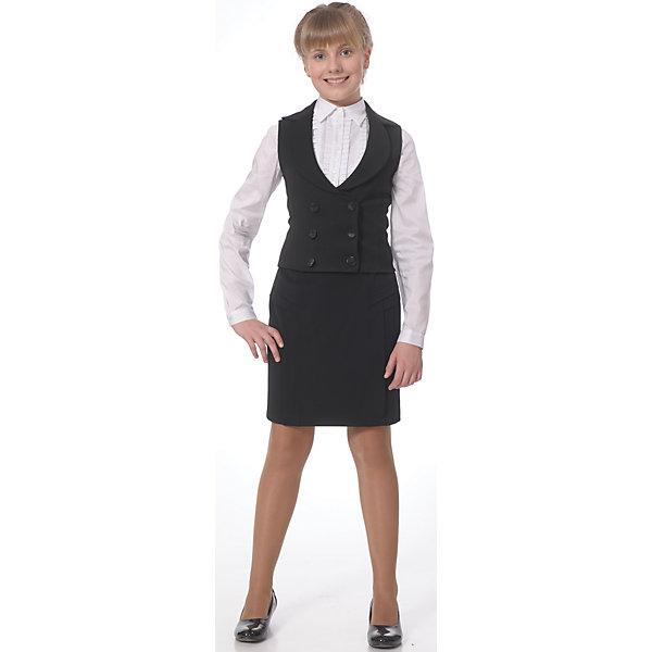 Купить Жилет для девочки Агат Skylake, Россия, черный, 146, 164, 158, 152, Женский