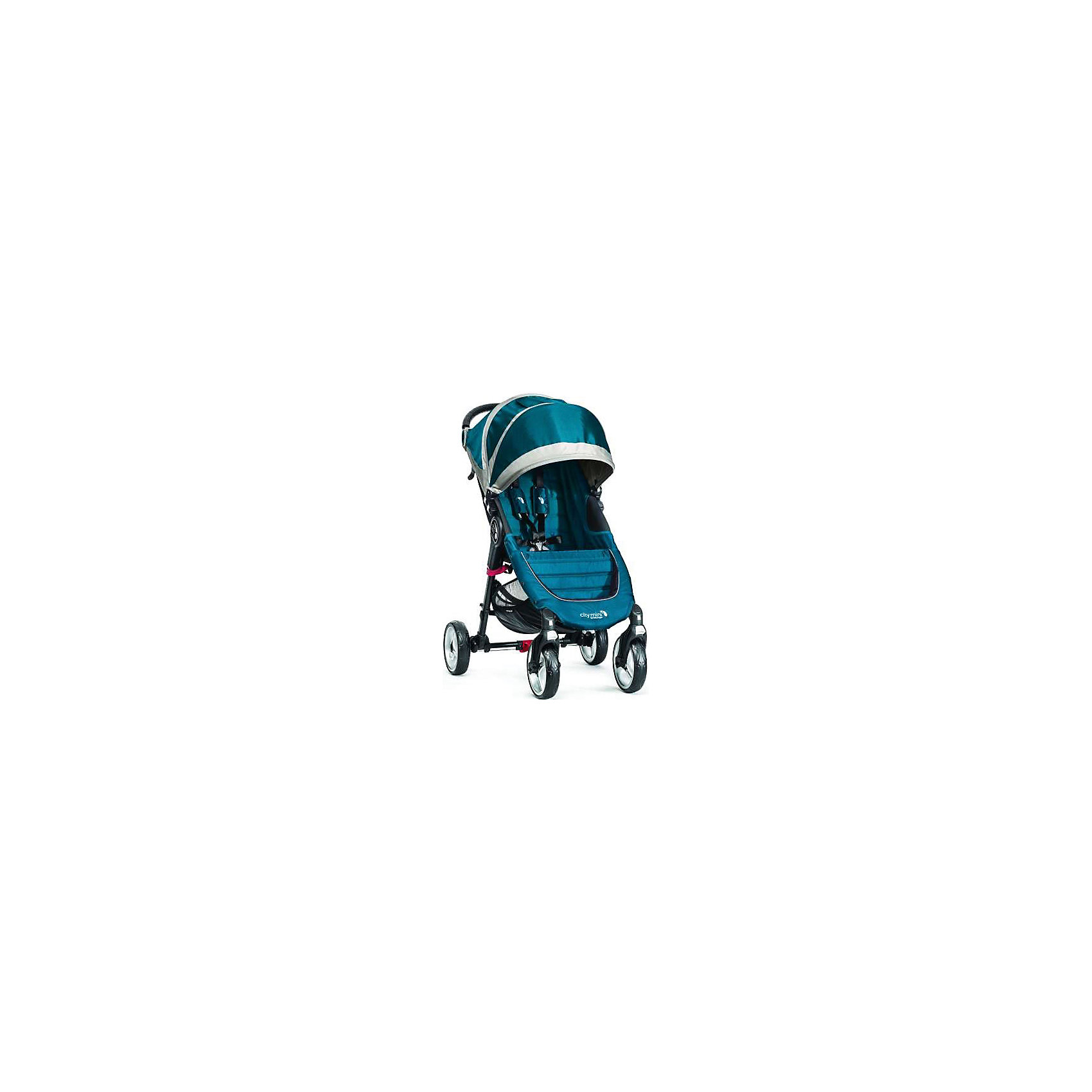 Baby Jogger Прогулочная коляска City Mini Single 4Wheel, Baby Jogger, бирюзовый-серый прогулочная коляска liko baby city style bt 109 grey