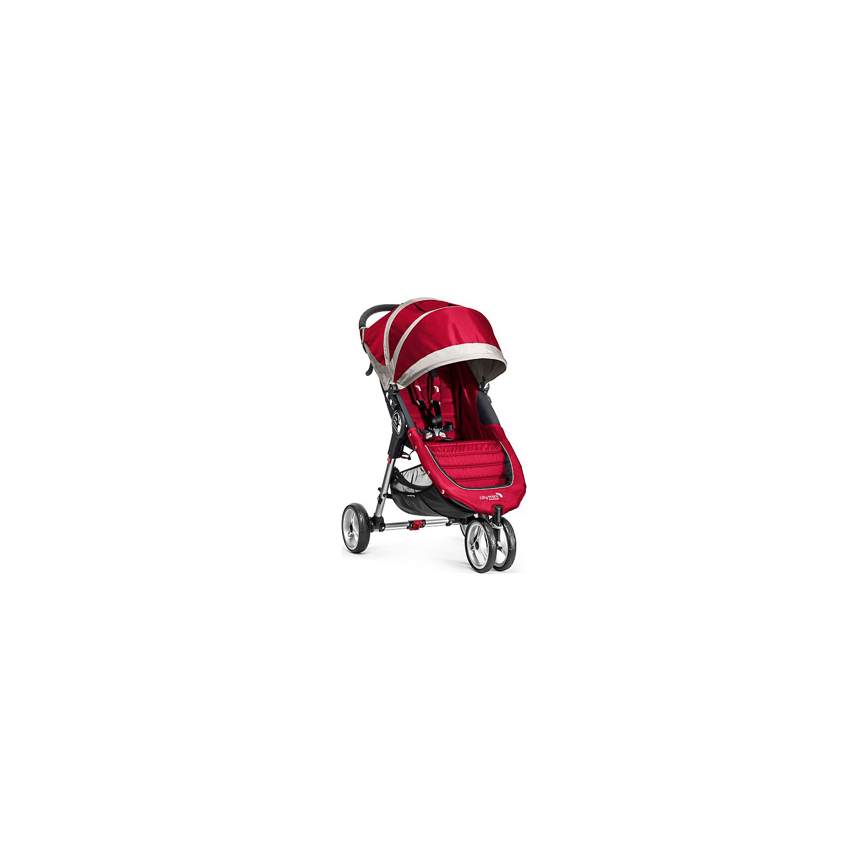 Baby Jogger Прогулочная коляска City Mini Single, Baby Jogger, красно-серый прогулочная коляска liko baby city style bt 109 grey