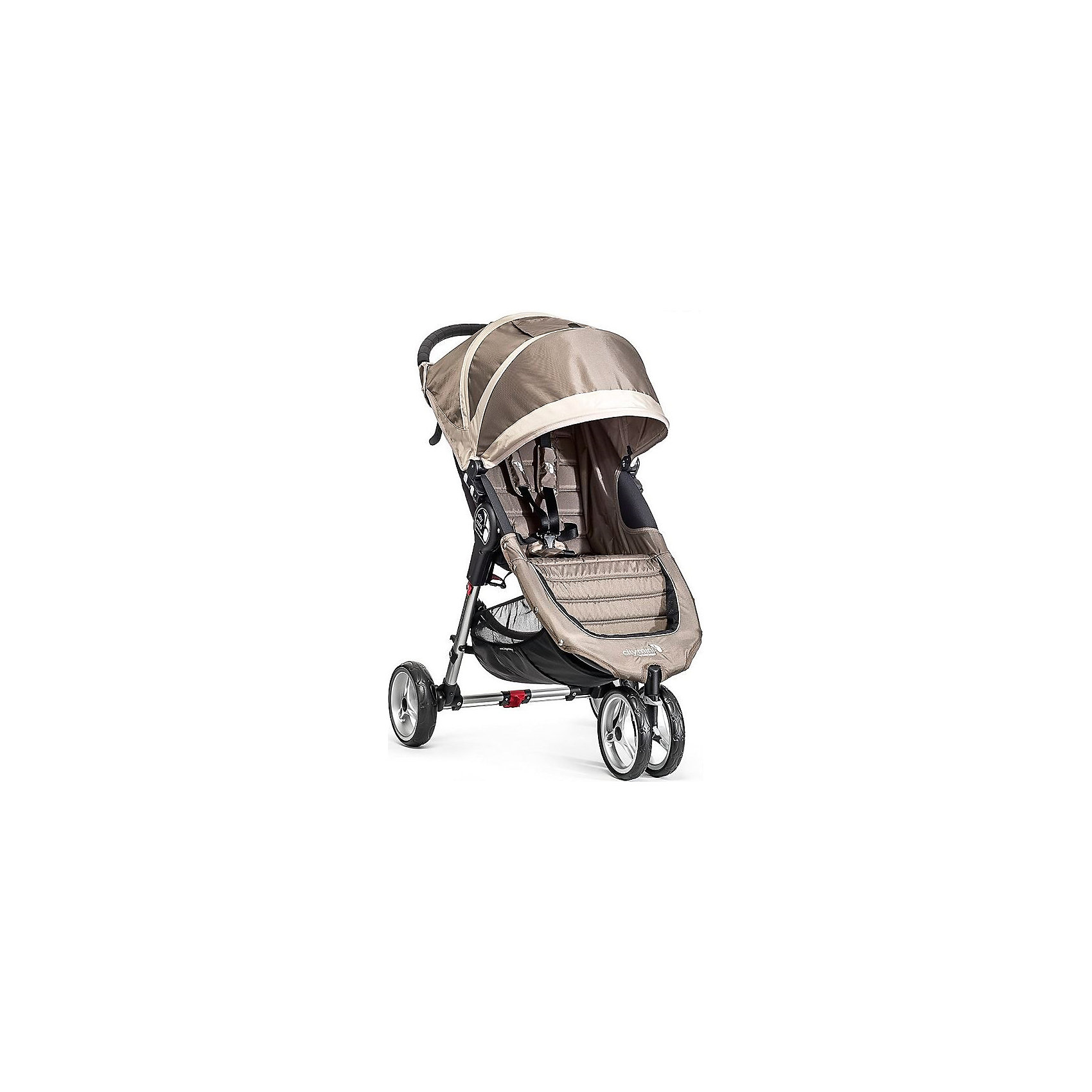 Baby Jogger Прогулочная коляска City Mini Single, Baby Jogger, песочно-серый прогулочная коляска cool baby kdd 6699gb t fuchsia light grey