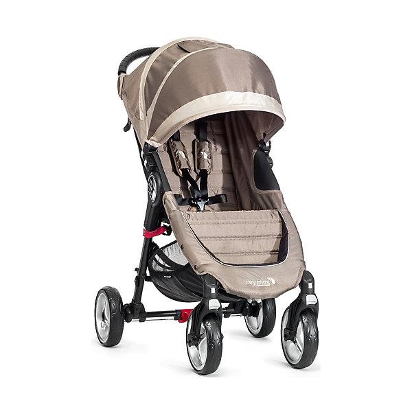 Прогулочная коляска Baby Jogger City Mini Single 4Wheel, песочно-серыйПрогулочные коляски<br>Прогулочная коляска Baby Jogger City Mini Single - прекрасный вариант для детей и родителей, идеально подходит для городских прогулок и путешествий. Коляска имеет систему амортизации, передние поворотные колеса, небольшую ширину раны, что гарантирует удобство, манёвренность и проходимость. Модель легко складывается одной рукой, имеет систему автофиксации в сложенном виде, ножной тормоз. Удобное просторное сиденье эргономичной формы, глубокий капюшон с сетчатым окошком, регулируемая спинка обеспечат малышу спокойный и комфортный отдых, а пятиточечные страховочные ремни с мягкими накладками гарантируют безопасность. City Mini с легкостью заменит коляску-трость и при этом даст вам и вашему ребенку гораздо больше комфорта.<br><br>Дополнительная информация:<br><br>- Материал: алюминий, текстиль, резина, пластик.<br>- Размер: 100 x 61 x 105  см.<br>- Размер в сложенном виде: 76х61х25 см.<br>- Количество колес: 4.<br>- Тип складывания: книжка.<br>- Колеса съемные.<br>- Диаметр колес: 20 см.<br>- Ножной тормоз.<br>- Регулируемый наклон спинки (до 170 градусов).<br>- Пятиточечные ремни безопасности.<br>- Корзина для вещей.<br>- Сетчатый карман для мелочей. <br>- Глубокий капюшон с сетчатым окошком (закрывается). <br>- Система автофиксации коляски в сложенном виде.<br>- Полукруглая ручка удобной эргономичной формы.<br>- Максимальный вес ребенка: 23 кг.<br>- Вес: 7 кг. <br><br>Прогулочную коляску City Mini Single 4Wheel, Baby Jogger (Бэби Джоггер), песочно-серую можно купить в нашем магазине.<br>Ширина мм: 760; Глубина мм: 610; Высота мм: 250; Вес г: 8500; Возраст от месяцев: 6; Возраст до месяцев: 36; Пол: Унисекс; Возраст: Детский; SKU: 4711685;