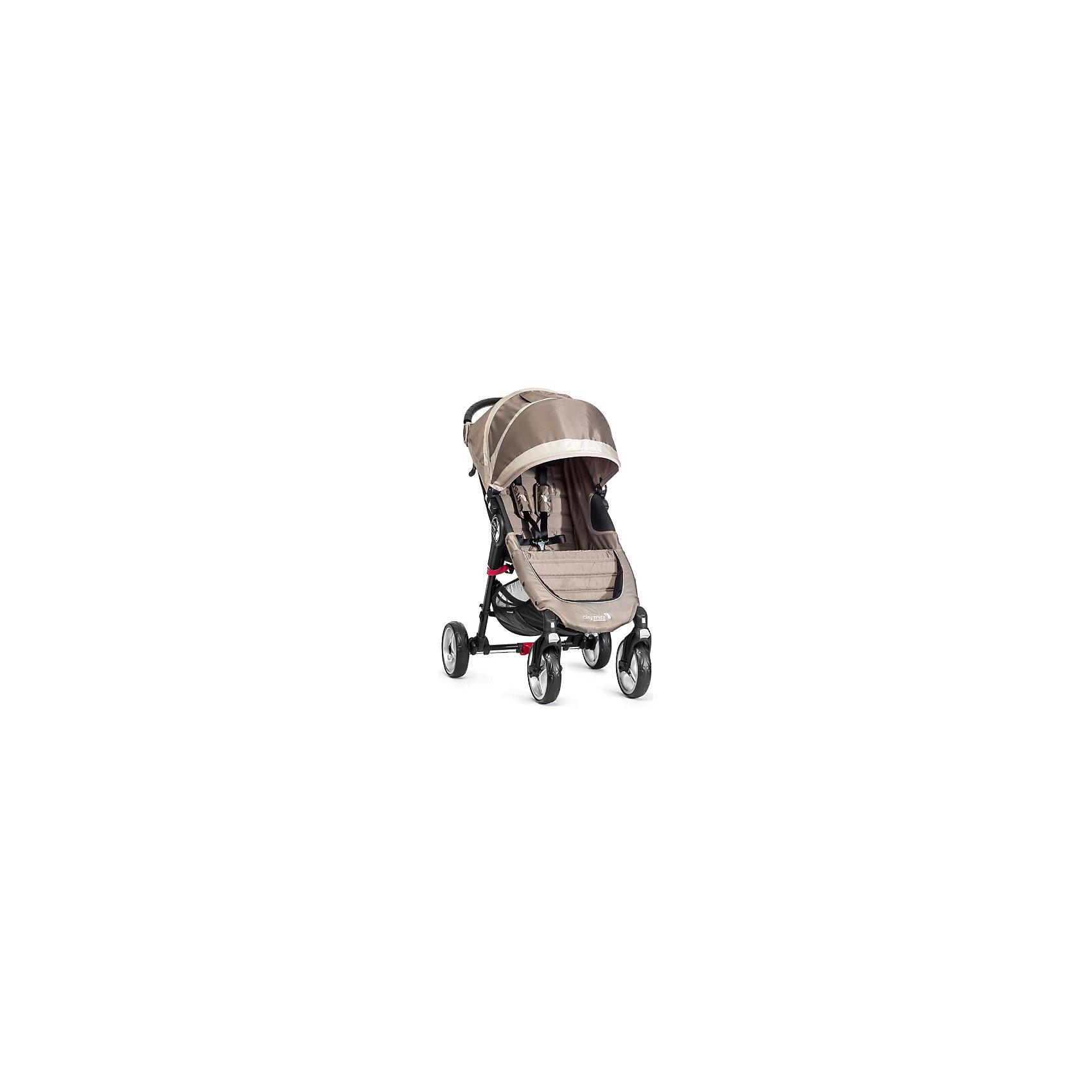 Прогулочная коляска City Mini Single 4Wheel, Baby Jogger, песочно-серыйПрогулочная коляска Baby Jogger City Mini Single - прекрасный вариант для детей и родителей, идеально подходит для городских прогулок и путешествий. Коляска имеет систему амортизации, передние поворотные колеса, небольшую ширину раны, что гарантирует удобство, манёвренность и проходимость. Модель легко складывается одной рукой, имеет систему автофиксации в сложенном виде, ножной тормоз. Удобное просторное сиденье эргономичной формы, глубокий капюшон с сетчатым окошком, регулируемая спинка обеспечат малышу спокойный и комфортный отдых, а пятиточечные страховочные ремни с мягкими накладками гарантируют безопасность. City Mini с легкостью заменит коляску-трость и при этом даст вам и вашему ребенку гораздо больше комфорта.<br><br>Дополнительная информация:<br><br>- Материал: алюминий, текстиль, резина, пластик.<br>- Размер: 100 x 61 x 105  см.<br>- Размер в сложенном виде: 76х61х25 см.<br>- Количество колес: 4.<br>- Тип складывания: книжка.<br>- Колеса съемные.<br>- Диаметр колес: 20 см.<br>- Ножной тормоз.<br>- Регулируемый наклон спинки (до 170 градусов).<br>- Пятиточечные ремни безопасности.<br>- Корзина для вещей.<br>- Сетчатый карман для мелочей. <br>- Глубокий капюшон с сетчатым окошком (закрывается). <br>- Система автофиксации коляски в сложенном виде.<br>- Полукруглая ручка удобной эргономичной формы.<br>- Максимальный вес ребенка: 23 кг.<br>- Вес: 7 кг. <br><br>Прогулочную коляску City Mini Single 4Wheel, Baby Jogger (Бэби Джоггер), песочно-серую можно купить в нашем магазине.<br><br>Ширина мм: 1000<br>Глубина мм: 610<br>Высота мм: 1050<br>Вес г: 10000<br>Возраст от месяцев: 6<br>Возраст до месяцев: 36<br>Пол: Унисекс<br>Возраст: Детский<br>SKU: 4711685