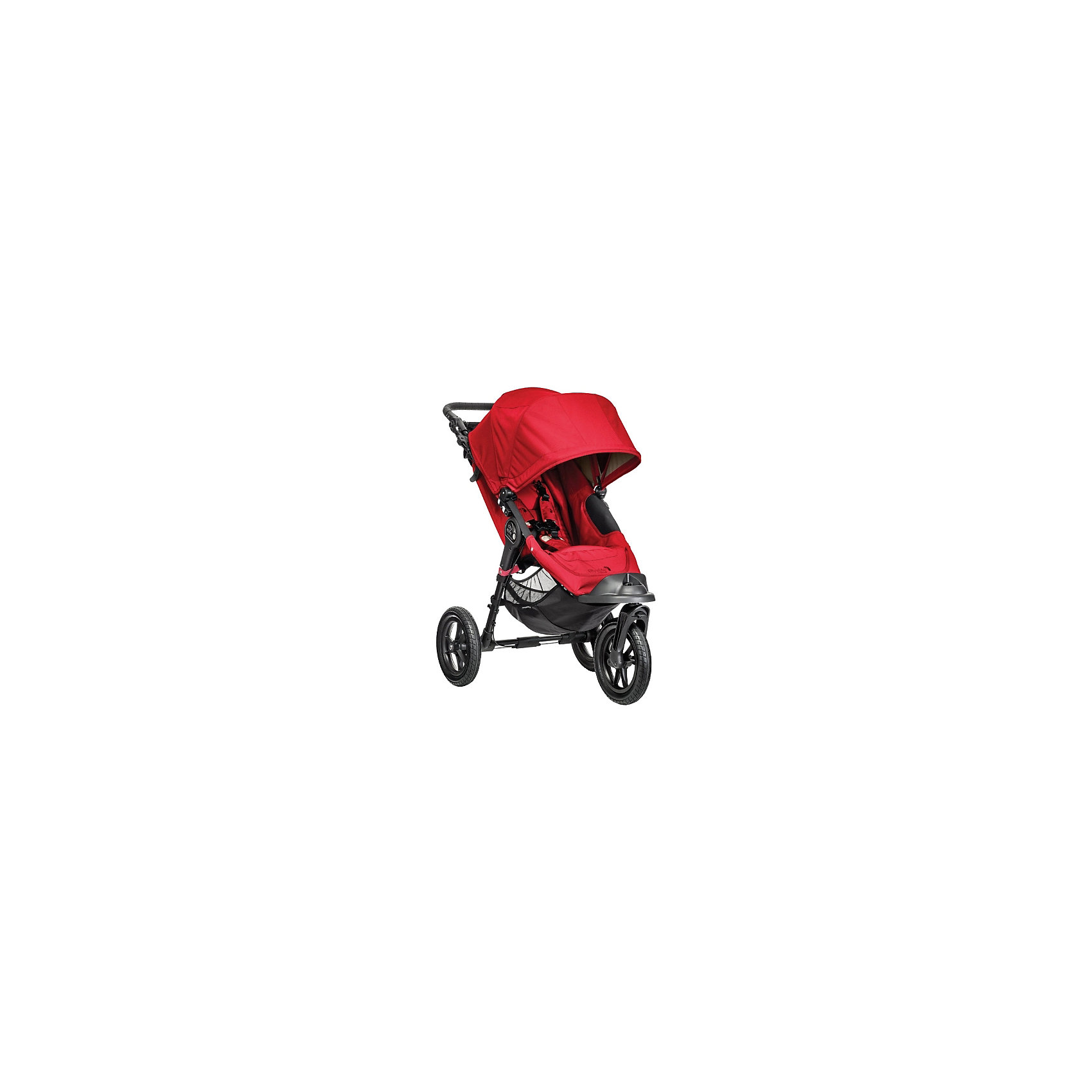 Baby Jogger Прогулочная коляска City Elite Single, Baby Jogger, красный прогулочная коляска cool baby kdd 6699gb t fuchsia light grey