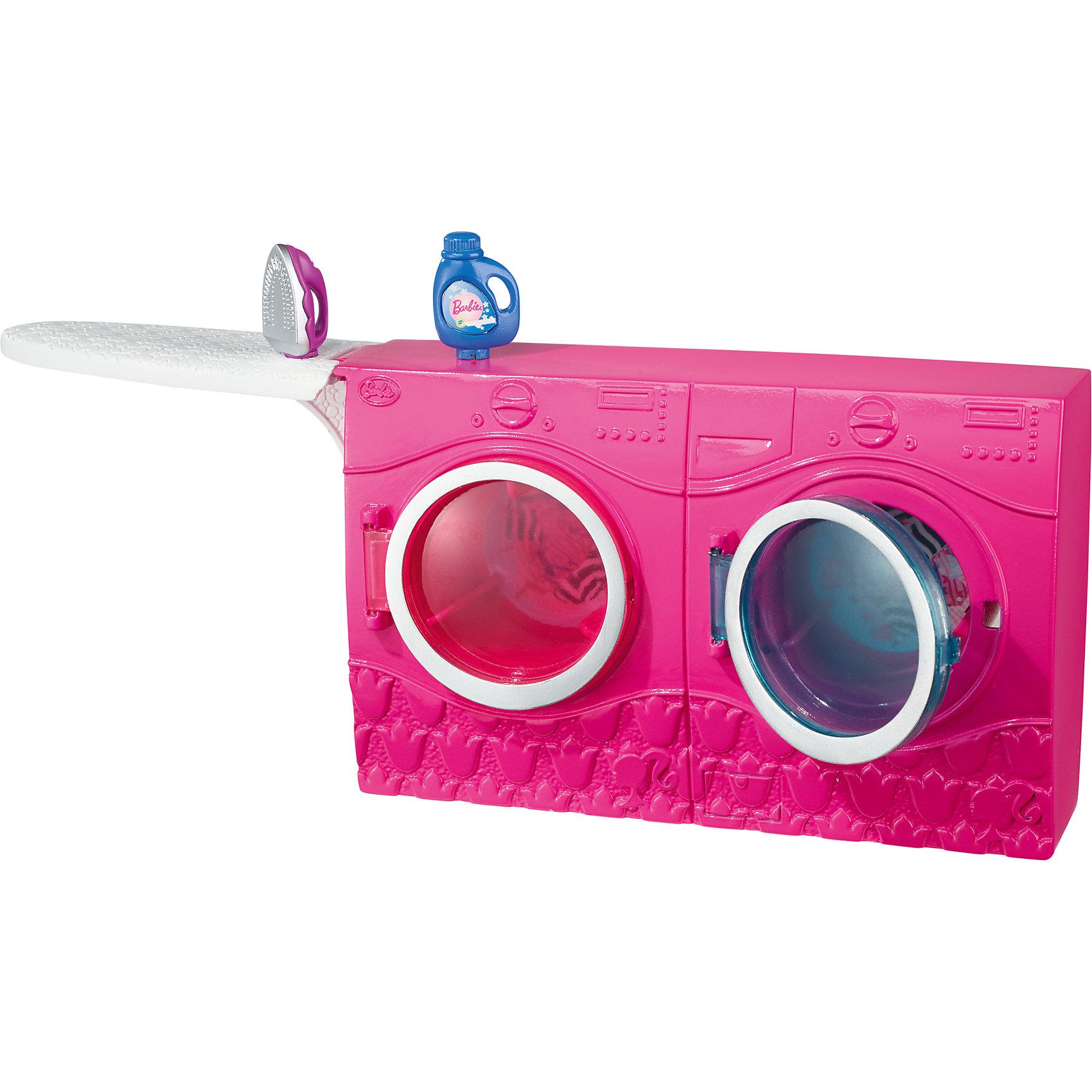 Mattel Стиральная машина, Barbie barbie набор для декора дома холодильник с продуктами cfg65 cfg70