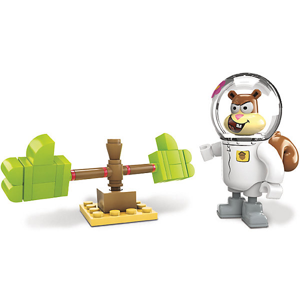 Игровой набор Губка Боб MEGA BLOKSПластмассовые конструкторы<br>Игровой набор Губка Боб MEGA BLOKS (МЕГА БЛОКС) – это увлекательный мини-набор с фигуркой и маленькой конструкцией с подвижными элементами.<br>Настало время твоим любимым героям Бикини Боттом немного пошалить! Игровой набор Mega Bloks (Мега Блокс) поможет белки Сэнди найти приключения на собственную голову. Собери тренировочные перчатки и продемонстрируй навыки каратэ Сэнди. Сделать это очень просто: нажимай на перчатки и смотри, как они вращаются с головокружительной скоростью!<br><br>Дополнительная информация:<br><br>- В наборе: одна мини-фигурка Сэнди со съемной головой, сборные тренировочные перчатки для каратэ, которые могут вращаться<br>- Количество деталей: 39<br>- Материал: прочный, безопасный пластик<br>- Размер упаковки: 4,5 x 10 x 12 см.<br>- Вес: 59 гр.<br><br>Игровой набор Губка Боб MEGA BLOKS (МЕГА БЛОКС) можно купить в нашем интернет-магазине.<br><br>Ширина мм: 45<br>Глубина мм: 100<br>Высота мм: 120<br>Вес г: 59<br>Возраст от месяцев: 60<br>Возраст до месяцев: 120<br>Пол: Унисекс<br>Возраст: Детский<br>SKU: 4713565