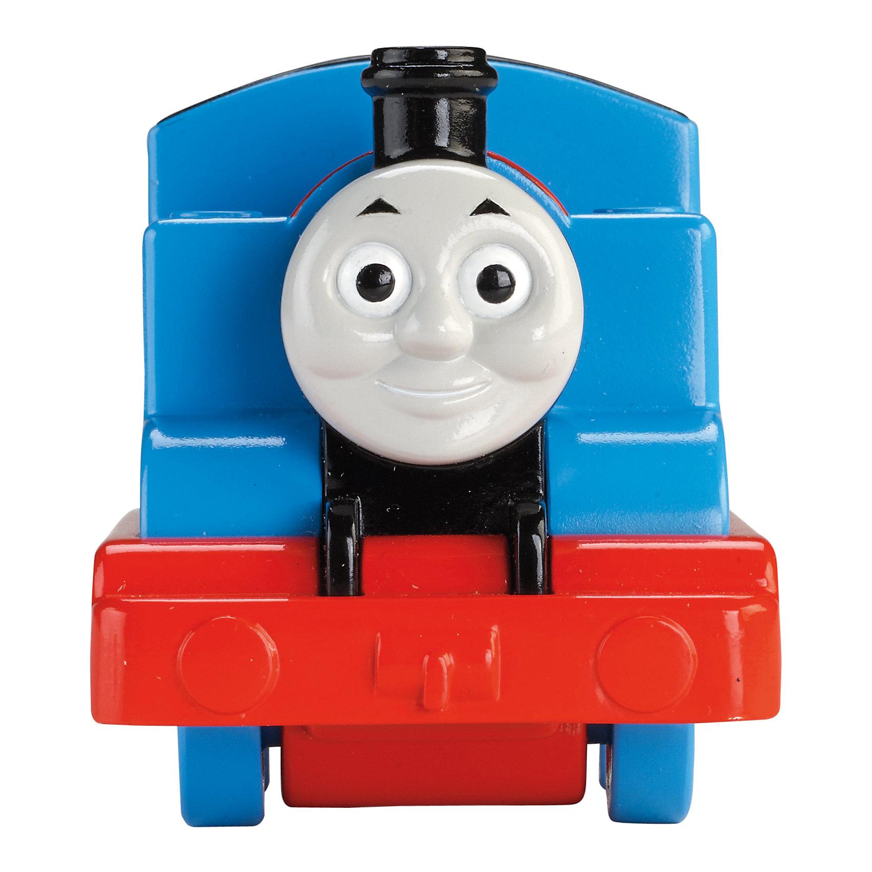 Веселые друзья-паровозики, Томас и его друзьяТомас и его друзья<br>Веселые друзья-паровозики, Томас и его друзья – это паровозик привлечет внимание вашего малыша и не позволит ему скучать.<br>Маленький, свободно перемещающийся паровозик Томас выполнен из пластика в виде главного персонажа популярного мультсериала Томас и его друзья. Голубой паровозик Томас самый оптимистичный и жизнерадостный паровоз Содора. Паровозик можно катать по самым разным поверхностям, т.к. у него гладкие колеса. Маленькие паровозики удобны и идеально подходят даже для самых маленьких! Игрушки можно толкать перед собой, что очень понравиться любому малышу! В продаже имеются пять персонажей серии «Томас и его друзья»: Перси, Гарольд, Дизель, Гордон и Джеймс.<br><br>Дополнительная информация:<br><br>- Размер паровозика: 6,3 x 5,7 x 9,3 см.<br>- Материал: пластик<br><br>Паровозик Томас серии Веселые друзья-паровозики, Томас и его друзья можно купить в нашем интернет-магазине.<br><br>Ширина мм: 310<br>Глубина мм: 305<br>Высота мм: 100<br>Вес г: 106<br>Возраст от месяцев: 18<br>Возраст до месяцев: 36<br>Пол: Мужской<br>Возраст: Детский<br>SKU: 4713582