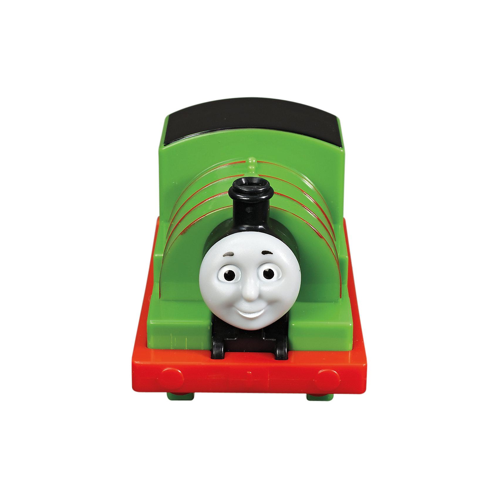 Веселые друзья-паровозики, Томас и его друзьяВеселые друзья-паровозики, Томас и его друзья – это паровозик привлечет внимание вашего малыша и не позволит ему скучать.<br>Маленький, свободно перемещающийся паровозик Перси выполнен из пластика в виде персонажа популярного мультсериала Томас и его друзья. Перси зелёный паровозик с номером 6. Он невероятно невезучий, но, несмотря, на это, он всегда старается сделать все возможное и учиться на своих ошибках. Паровозик можно катать по самым разным поверхностям, т.к. у него гладкие колеса. Маленькие паровозики удобны и идеально подходят даже для самых маленьких! Игрушки можно толкать перед собой, что очень понравиться любому малышу! В продаже имеются пять персонажей серии «Томас и его друзья»: Томас, Гарольд, Дизель, Гордон и Джеймс.<br><br>Дополнительная информация:<br><br>- Размер паровозика: 6,3 x 5,7 x 9,3 см.<br>- Материал: пластик<br><br>Паровозик Перси серии Веселые друзья-паровозики, Томас и его друзья можно купить в нашем интернет-магазине.<br><br>Ширина мм: 310<br>Глубина мм: 305<br>Высота мм: 100<br>Вес г: 106<br>Возраст от месяцев: 18<br>Возраст до месяцев: 36<br>Пол: Мужской<br>Возраст: Детский<br>SKU: 4713583