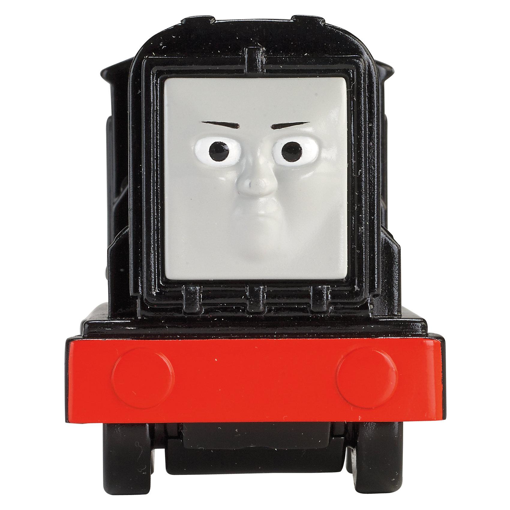 Веселые друзья-паровозики, Томас и его друзьяВеселые друзья-паровозики, Томас и его друзья – это паровозик привлечет внимание вашего малыша и не позволит ему скучать.<br>Маленький, свободно перемещающийся паровозик Дизель выполнен из пластика в виде персонажа популярного мультсериала Томас и его друзья. Дизель – это дизель-электровоз черного цвета. Паровозик можно катать по самым разным поверхностям, т.к. у него гладкие колеса. Маленькие паровозики удобны и идеально подходят даже для самых маленьких! Игрушки можно толкать перед собой, что очень понравиться любому малышу! В продаже имеются пять персонажей серии «Томас и его друзья»: Томас, Гарольд, Перси, Гордон и Джеймс.<br><br>Дополнительная информация:<br><br>- Размер паровозика: 9,5 x 5 x 7 см.<br>- Материал: пластик<br><br>Паровозик Дизель серии Веселые друзья-паровозики, Томас и его друзья можно купить в нашем интернет-магазине.<br><br>Ширина мм: 310<br>Глубина мм: 305<br>Высота мм: 100<br>Вес г: 106<br>Возраст от месяцев: 18<br>Возраст до месяцев: 36<br>Пол: Мужской<br>Возраст: Детский<br>SKU: 4713584