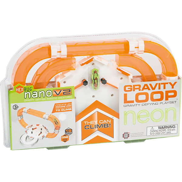 Малый игровой набор для Нано V2 c туннелями и площадкойИнтерактивные игрушки для малышей<br>Характеристики игрового набора Gravity Loop Neon:<br><br>• жук окрашен в зеленый цвет;<br>• прозрачные ярко-оранжевые трубки позволяют рассмотреть движение микророботов в 3-х измерениях;<br>• отличие от набора Nano V2 Orbit: имеется площадка и два угловых элемента;<br>• размер упаковки: 36x22x5 см<br><br>Игровой набор с микророботами и площадкой для беговых забегов позволяет устроить соревнования между жуками. Игровые наборы Nano V2 совместимы друг с другом, туннели можно дополнять различными деталями. <br><br>Комплектация игрового набора Nano V2 Gravity loop Neon, 18 элементов:<br><br>• 6-ти угольная площадка с элементами Construct, <br>• 4 изогнутых и 1 прямой прозрачный лаз, <br>• 2 изогнутых поворота для передвижения по горизонтальной поверхности,<br>• элементы для сопряжения деталей;<br>• инструкция. <br><br>Малый игровой набор для Нано V2 c туннелями и площадкой можно купить в нашем интернет-магазине.<br><br>Ширина мм: 412<br>Глубина мм: 279<br>Высота мм: 53<br>Вес г: 578<br>Возраст от месяцев: 96<br>Возраст до месяцев: 156<br>Пол: Мужской<br>Возраст: Детский<br>SKU: 4714635