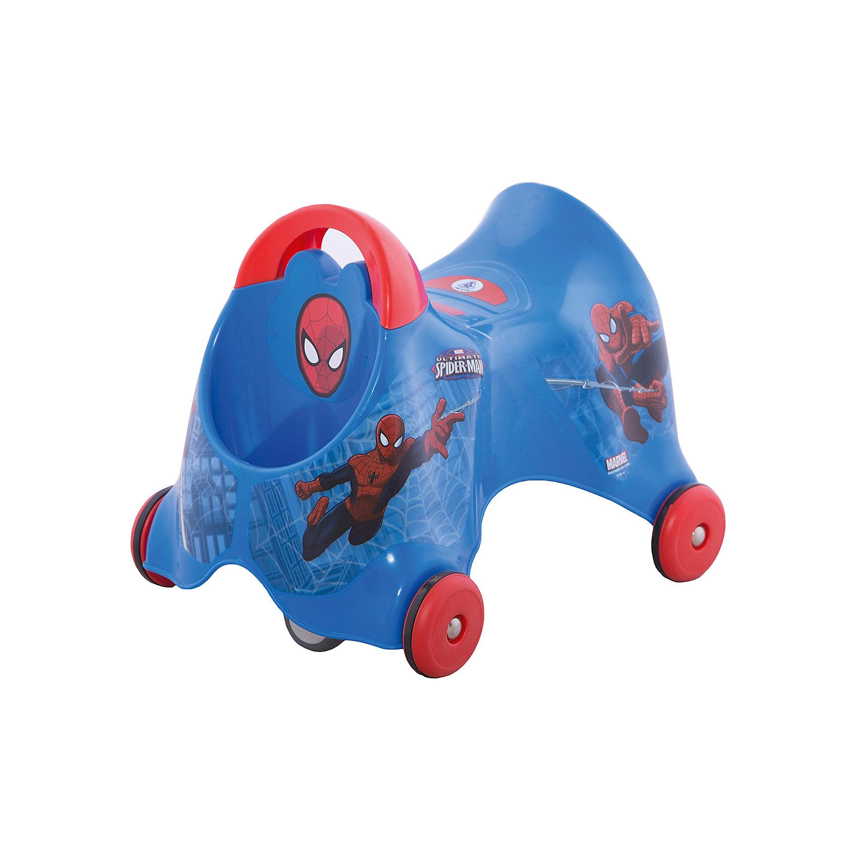 Каталка Человек-Паук, InjusaЭта каталка разработана специально для самых маленьких. Она поможет малышам делать свои первые шаги! С помощью каталки ребенок будет активнее изучать окружающий мир и развить чувство равновесия, координацию и моторику, учиться правильно использовать пространство. Благодаря четырем колесам, малыш сможет двигаться вперед-назад, а пятое двойное колесо поможет ребенку самому учиться поворачивать. Скорость движения зависит от движения ног ребенка.<br>Каталка выполнена в яркой расцветке, она произведена из высококачественных материалов. Эти материалы безопасны для ребенка. На каталке есть небольшой багажник. Она очень легко моется и весит всего один килограмм. Каталка украшена изображением Человека-Паука, которого так любят мальчишки.<br><br>Дополнительная информация:<br><br>цвет: синий;<br>материал: пластик;<br>размер: 30*42*31 см;<br>вес: 1 кг.<br><br>Каталку Человек-Паук от марки Injusa можно купить в нашем магазине.<br><br>Ширина мм: 300<br>Глубина мм: 420<br>Высота мм: 310<br>Вес г: 8450<br>Возраст от месяцев: 180<br>Возраст до месяцев: 36<br>Пол: Мужской<br>Возраст: Детский<br>SKU: 4715380