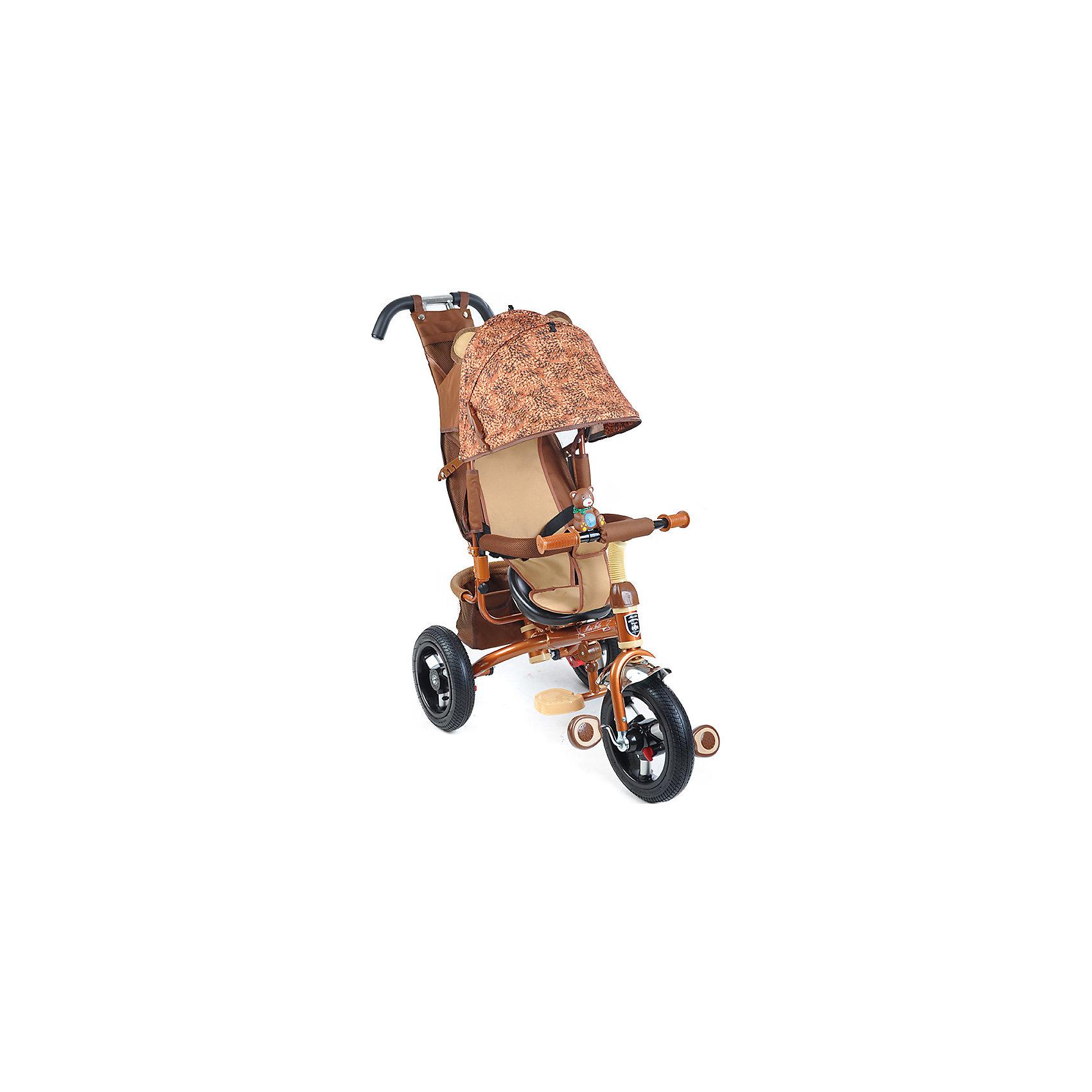 Велосипед трехколесный Медвед, MINI TRIKEКрасивый и удобный велосипед - предмет желаний огромного количества детей! Также для родителей он сможет выполнять функции коляски. Велосипед приводится в действие, когда начинаешь крутить педали. На нем очень комфортно ездить благодаря продуманному размеру колес, их размер точно вымерен для того, чтобы обеспечить устойчивость на поворотах. С помощью велосипеда ребенок будет развивать внимательность и пространственное мышление, а также учиться правильно использовать пространство.<br>Велосипед выполнен в стильной расцветке, он произведен из высококачественных материалов. Эти материалы безопасны для ребенка. Он имеет созданную специалистами конструкцию, которая обеспечит ребенку комфорт и безопасность.<br><br>Дополнительная информация:<br><br>цвет: коричневый;<br>подножка складывается;<br>сиденье с высокой воздухопроницаемой спинкой и с мягким тканевым вкладышем;<br>можно увеличить или уменьшить расстояние от сиденья до руля;<br>пластиковые колеса диаметром 12 и 10 (переднее и задние соответственно);<br>ножной тормоз на задние колеса;<br>регулируемый большой капор с фиксатором уровней открытости;<br>разъемный навес;<br>смотровое окно в задней части навеса;<br>удобный вместительный багажник;<br>сумочка для мелочей на ручке управления;<br>клаксон-игрушка.<br>размер: 83x49x100 см.<br><br>Велосипед трехколесный Медведь, от марки MINI TRIKE можно купить в нашем магазине.<br><br>Ширина мм: 940<br>Глубина мм: 520<br>Высота мм: 1100<br>Вес г: 10500<br>Возраст от месяцев: 12<br>Возраст до месяцев: 60<br>Пол: Унисекс<br>Возраст: Детский<br>SKU: 4715387