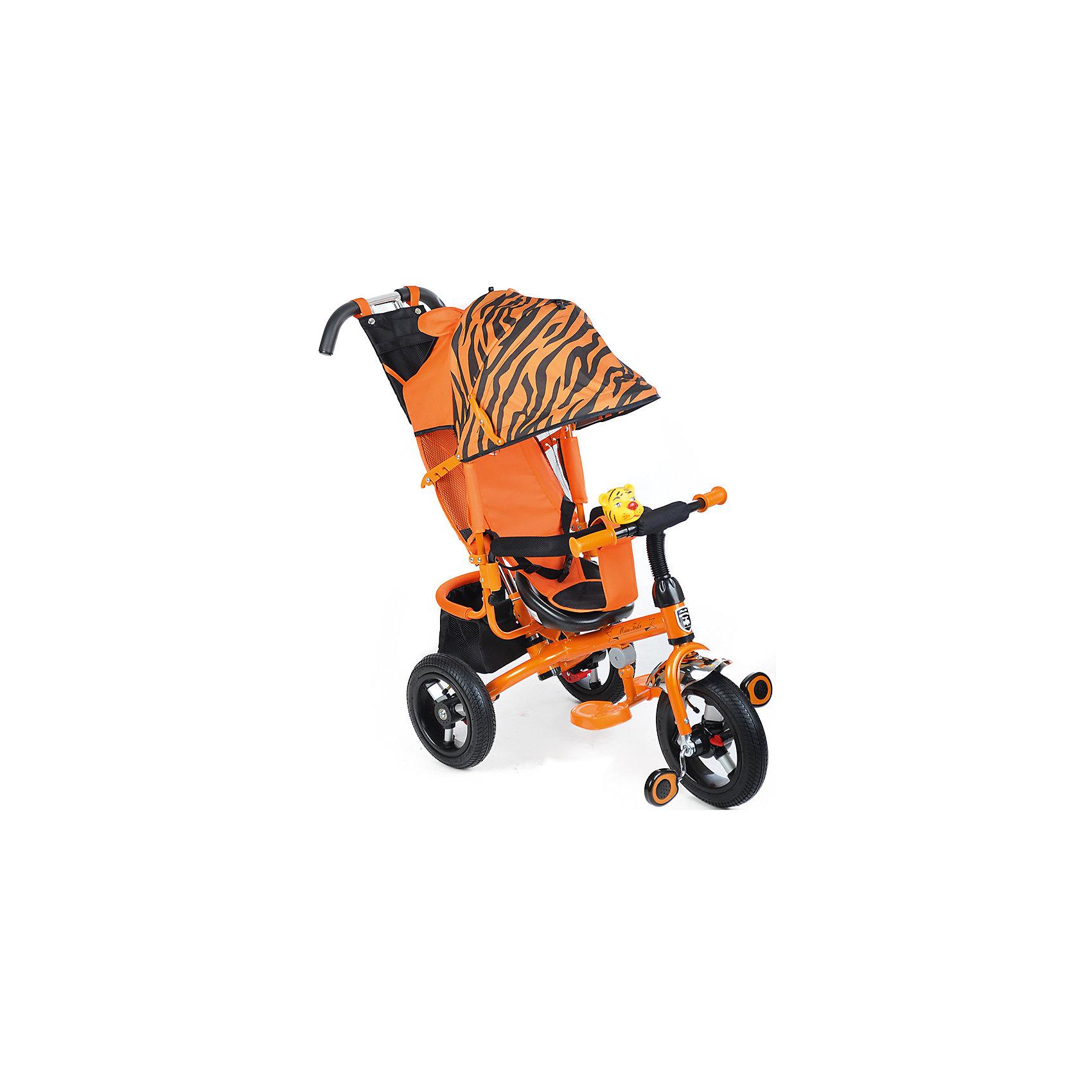 Велосипед трехколесный Тигр, MINI TRIKEКрасивый и удобный велосипед - предмет желаний огромного количества детей! Также для родителей он сможет выполнять функции коляски. Велосипед приводится в действие, когда начинаешь крутить педали. На нем очень комфортно ездить благодаря продуманному размеру колес, их размер точно вымерен для того, чтобы обеспечить устойчивость на поворотах. С помощью велосипеда ребенок будет развивать внимательность и пространственное мышление, а также учиться правильно использовать пространство.<br>Велосипед выполнен в стильной расцветке, он произведен из высококачественных материалов. Эти материалы безопасны для ребенка. Он имеет созданную специалистами конструкцию, которая обеспечит ребенку комфорт и безопасность.<br><br>Дополнительная информация:<br><br>цвет: тигровый;<br>подножка складывается;<br>сиденье с высокой воздухопроницаемой спинкой и с мягким тканевым вкладышем;<br>можно увеличить или уменьшить расстояние от сиденья до руля;<br>пластиковые колеса диаметром 12 и 10 (переднее и задние соответственно);<br>ножной тормоз на задние колеса;<br>регулируемый большой капор с фиксатором уровней открытости;<br>разъемный навес;<br>смотровое окно в задней части навеса;<br>удобный вместительный багажник;<br>сумочка для мелочей на ручке управления;<br>клаксон-игрушка.<br>размер: 83x49x100 см.<br><br>Велосипед трехколесный Тигр, от марки MINI TRIKE можно купить в нашем магазине.<br><br>Ширина мм: 940<br>Глубина мм: 520<br>Высота мм: 1100<br>Вес г: 10500<br>Возраст от месяцев: 12<br>Возраст до месяцев: 60<br>Пол: Унисекс<br>Возраст: Детский<br>SKU: 4715388