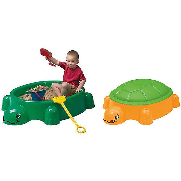 Песочница с крышкой Черепаха, PARADISOИграем в песочнице<br>Удобная симпатичная песочница позволит малышу играть с чистым песком. Крышка защитит песок от загрязнений и дождя. Это - идеальный вариант для летнего отдыха на даче и огромные возможности для самых разных игр! С помощью нее ребенок сможет выплескивать свою энергию в безопасном виде физической активности.<br>Песочница выполнена в виде черепахи в яркой расцветке, она произведена из высококачественных материалов. Эти материалы безопасны для ребенка. Песочница предназначена для детишек от года. Она легкая, компактная и безопасная. <br><br>Дополнительная информация:<br><br>цвет: зеленый;<br>прочная и легкая конструкция;<br>высококачественные материалы (пластик);<br>размер: 115х83х35 см.<br><br>Песочницу с крышкой Черепаха от марки PARADISO можно купить в нашем магазине.<br>Ширина мм: 1150; Глубина мм: 830; Высота мм: 350; Вес г: 5420; Возраст от месяцев: 12; Возраст до месяцев: 60; Пол: Унисекс; Возраст: Детский; SKU: 4715397;