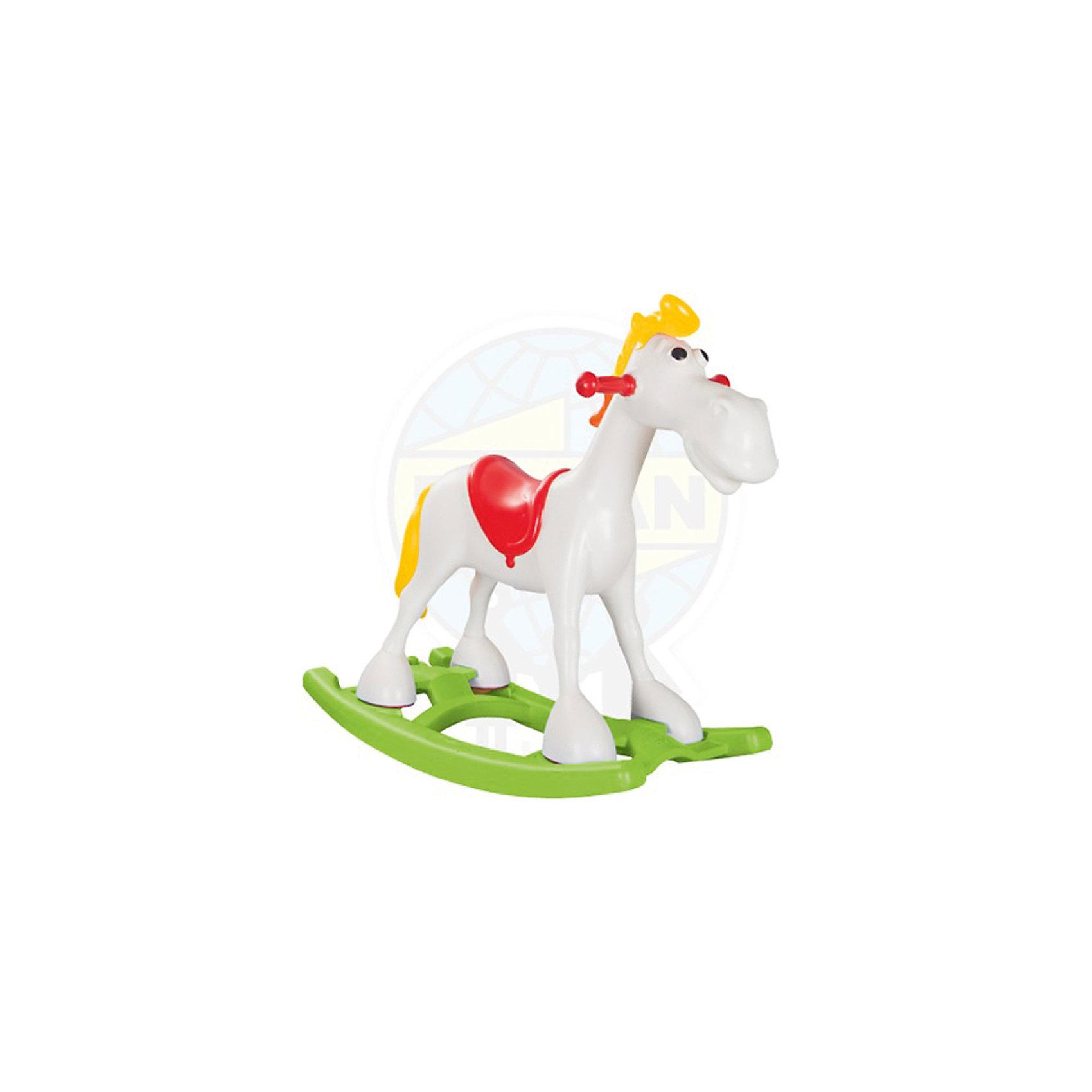 Качалка Лошадка Lucky Horse, PILSANЭта качалка разработана специально для самых маленьких. С помощью качалки ребенок будет активнее изучать окружающий мир и развить чувство равновесия, координацию и моторику. Качалка имеет удобные для маленького ребенка ручки и рассчитана на максимально безопасный диапазон качания. Игрушку можно использовать как качалку или кататься на ней, убрав платформу.<br>Качалка выполнена в яркой расцветке в виде веселой лошадки, она произведена из высококачественных материалов. Эти материалы безопасны для ребенка. Предназначена и для дома, и для улицы. Она очень легко моется и мало весит.<br><br>Дополнительная информация:<br><br>цвет: разноцветный;<br>материал: пластик;<br>максимальная нагрузка: до 50 кг;<br>размер: 95 х 41 х 78,5 см.<br><br>Качалку Лошадка Lucky Horse от марки PILSAN можно купить в нашем магазине.<br><br>Ширина мм: 950<br>Глубина мм: 410<br>Высота мм: 785<br>Вес г: 3950<br>Возраст от месяцев: 24<br>Возраст до месяцев: 84<br>Пол: Унисекс<br>Возраст: Детский<br>SKU: 4715399