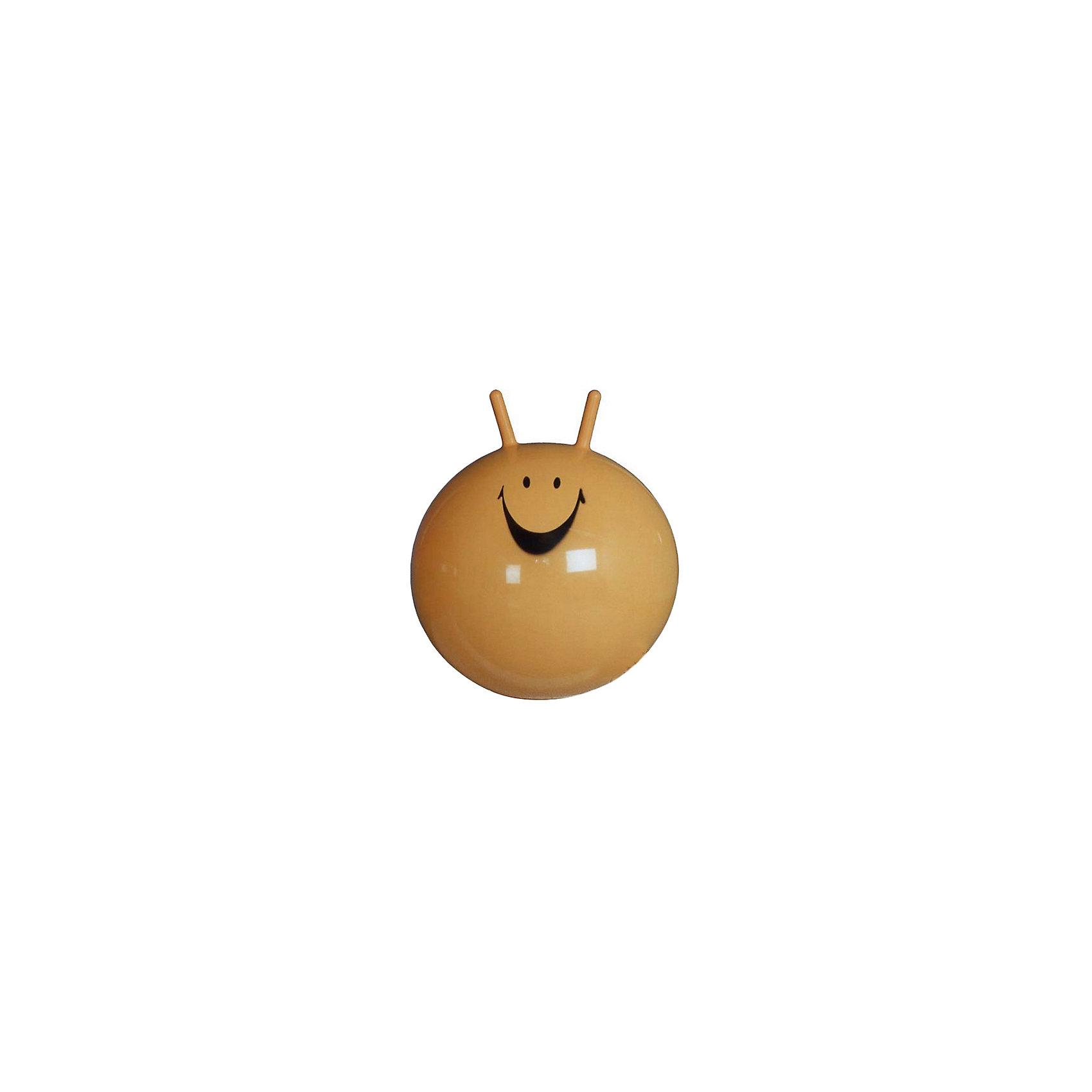 Мяч-прыгун, 45 см, желтыйЛюбой активный ребенок нуждается предметах для физической активности. Такой мяч-попрыгун - это огромные возможности для самых разных игр одному или с друзьями! С помощью этого мяча ребенок сможет выплескивать свою энергию в безопасном виде физической активности.<br>Мяч выполнен из высококачественных материалов, которые безопасны для ребенка. На нем можно прыгать, держась за ручки - антенны. Мяч-попрыгун способствует развитию координации пространственного мышления ребенка, тренирует правильную осанку, улучшает работу вестибулярного аппарата.<br><br>Дополнительная информация:<br><br>цвет: желтый;<br>диаметр: 45 см;<br>высококачественные материалы.<br><br>Мяч-прыгун от марки ARPAX можно купить в нашем магазине.<br><br>Ширина мм: 450<br>Глубина мм: 100<br>Высота мм: 100<br>Вес г: 600<br>Возраст от месяцев: 36<br>Возраст до месяцев: 144<br>Пол: Унисекс<br>Возраст: Детский<br>SKU: 4715406