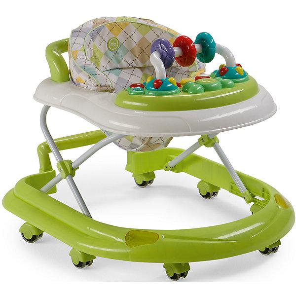 Ходунки Smiley V2, Happy Baby, зеленыйХодунки<br>Классические ходунки SMILEY V2 развивают координацию движений и помогут ребёнку научиться держать равновесие. <br><br>Мягкие цвета ходунков привлекут внимание ребенка. Игровая панель со звуковыми эффектами и игрушками поможет развить у малыша зрение, слух, хватательный рефлекс и мелкую моторику. Мягкое, удобное сиденье легко регулируется в 3-х положениях в зависимости от роста. <br><br>Ходунки SMILEY V2 оборудованы специальными силиконовыми колесами, которые не поцарапают напольное покрытие. Игровая панель работает от 2-х пальчиковых батареек (тип АА).<br><br>Дополнительная информация::<br><br>- Максимальный вес ребенка: 12 кг<br>- Вес ходунков: 3,5 кг<br>- Габариты в сложенном виде ДхШхВ: 70х59,5х30 см<br>- Габариты в разложенном виде ДхШхВ: 70х59,5х54 см<br>- Регулируемое сиденье: да<br>- Регулируются по высоте, 3 положения<br>- Развивают координацию движений<br>- Учат ребенка держать равновесие<br>- На задней части ходунков расположена ручка, которая позволяет использовать их в качестве каталки<br>- Силиконовые колеса, 8 шт<br>- Съемная игровая панель со звуковыми и световыми эффектами: <br>   12 мелодий<br>- Развивающие игрушки механически вращаются<br>- Для работы игровой панели необходимо 2 батарейки типа АА<br><br>Ходунки Smiley V2, Happy Baby, зеленый можно купить в нашем магазине.<br>Ширина мм: 300; Глубина мм: 595; Высота мм: 700; Вес г: 17000; Цвет: зеленый; Возраст от месяцев: 7; Возраст до месяцев: 15; Пол: Унисекс; Возраст: Детский; SKU: 4715785;