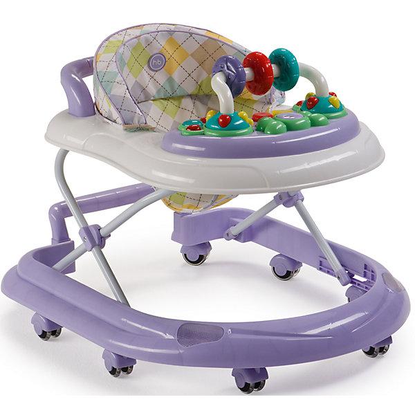 Ходунки Smiley V2, Happy Baby, лиловыйХодунки<br>Классические ходунки SMILEY V2 развивают координацию движений и помогут ребёнку научиться держать равновесие. <br><br>Мягкие цвета ходунков привлекут внимание ребенка. Игровая панель со звуковыми эффектами и игрушками поможет развить у малыша зрение, слух, хватательный рефлекс и мелкую моторику. Мягкое, удобное сиденье легко регулируется в 3-х положениях в зависимости от роста. <br><br>Ходунки SMILEY V2 оборудованы специальными силиконовыми колесами, которые не поцарапают напольное покрытие. Игровая панель работает от 2-х пальчиковых батареек (тип АА).<br><br>Дополнительная информация::<br><br>- Максимальный вес ребенка: 12 кг<br>- Вес ходунков: 3,5 кг<br>- Габариты в сложенном виде ДхШхВ: 70х59,5х30 см<br>- Габариты в разложенном виде ДхШхВ: 70х59,5х54 см<br>- Регулируемое сиденье: да<br>- Регулируются по высоте, 3 положения<br>- Развивают координацию движений<br>- Учат ребенка держать равновесие<br>- На задней части ходунков расположена ручка, которая позволяет использовать их в качестве каталки<br>- Силиконовые колеса, 8 шт<br>- Съемная игровая панель со звуковыми и световыми эффектами: <br>   12 мелодий<br>- Развивающие игрушки механически вращаются<br>- Для работы игровой панели необходимо 2 батарейки типа АА<br><br>Ходунки Smiley V2, Happy Baby, лиловый можно купить в нашем магазине.<br>Ширина мм: 300; Глубина мм: 595; Высота мм: 700; Вес г: 17000; Цвет: лиловый; Возраст от месяцев: 7; Возраст до месяцев: 15; Пол: Унисекс; Возраст: Детский; SKU: 4715786;
