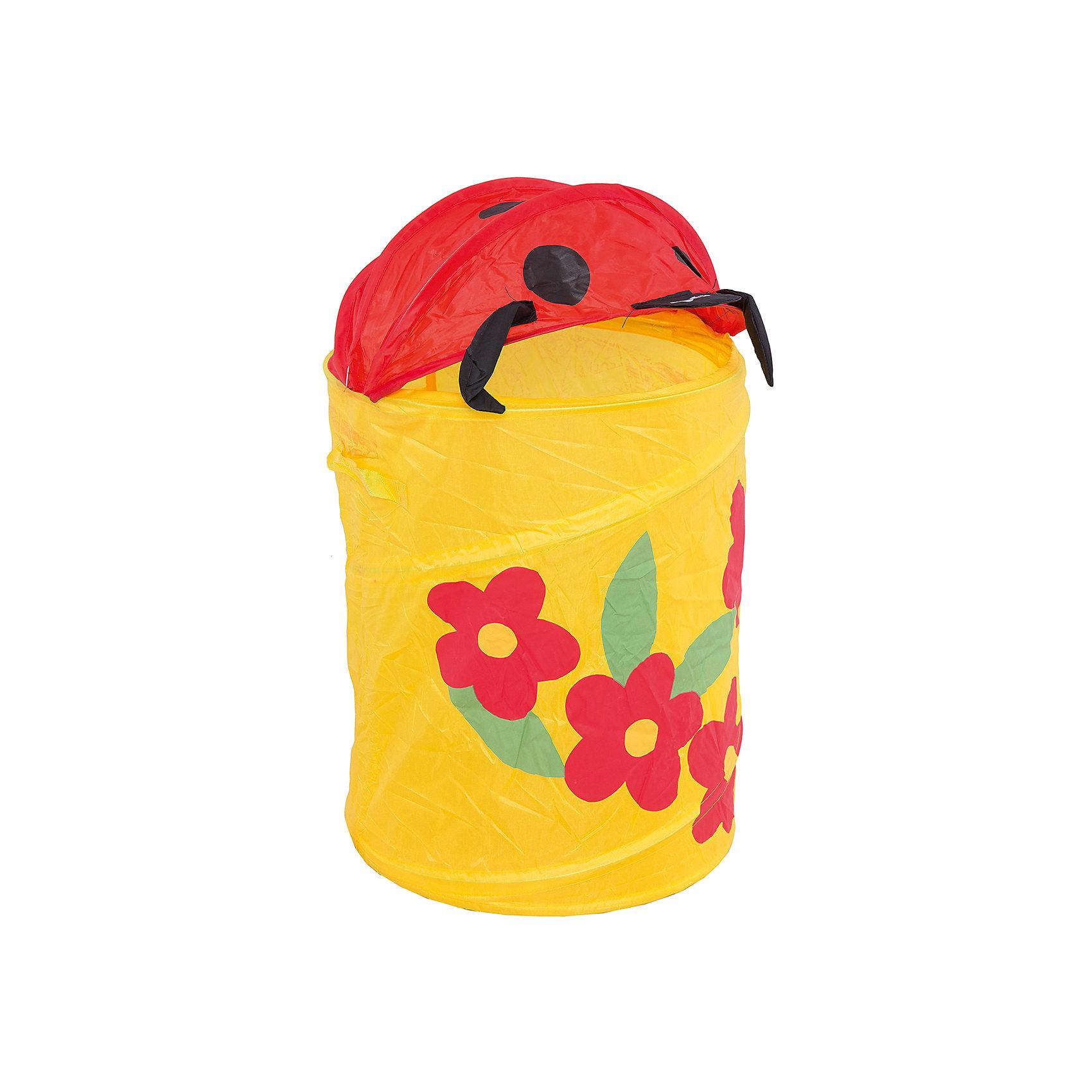 - Корзина для игрушек Божья коровка, c цветочками корзины для игрушек lilliputiens божья коровка лиза игрушка корзина