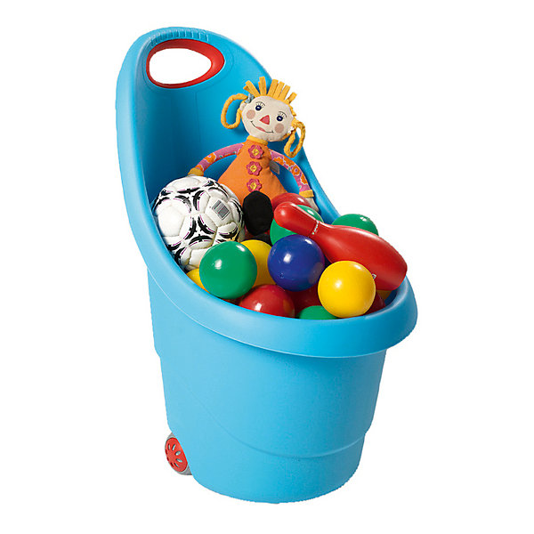 Корзина для игрушек на колесах, голубаяКорзины для игрушек<br>Характеристики товара:• возраст: от 2 лет;<br>• материал: пластик;<br>• размер корзины: 62х38х35 см;<br>• размер упаковки: 62х38х35 см;<br>• вес упаковки: 1,1 кг;<br>• страна производитель: Израиль.<br><br>Корзина для игрушек на колесах Keter Kiddies Go голубая позволит ребенку аккуратно хранить свои вещи или игрушки и приучит его к порядку в комнате. Корзинка оснащена удобной ручкой и 2 колесиками, которые облегчают ее перемещение. Она выполнена из качественного пластика и не имеет острых углов.<br><br>Корзину для игрушек на колесах Keter Kiddies Go голубую можно приобрести в нашем интернет-магазине.<br>Ширина мм: 360; Глубина мм: 360; Высота мм: 580; Вес г: 960; Возраст от месяцев: 12; Возраст до месяцев: 144; Пол: Унисекс; Возраст: Детский; SKU: 4718338;