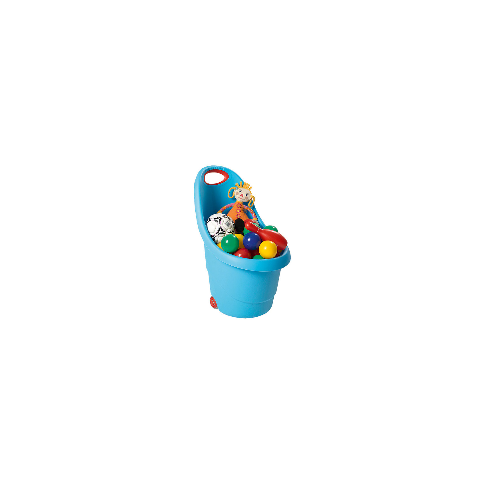 Корзина для игрушек на колесах, голубаяПорядок в детской<br>Удобная и практичная тележка на колесах станет любимой игрушкой вашего ребенка, которая поможет в игровой форме приучить детей к порядку. Удобная ручка с антискользящим покрытием. Предназначена для хранения детских игрушек, принадлежностей и послужит прекрасным декором в комнате ребенка.<br><br>Дополнительная информация:<br><br>- Возраст: от 2 лет.<br>- Размеры: 38х35х62 см.<br><br>Корзина для игрушек на колесах голубого цвета, можно купить в нашем магазине.<br><br>Ширина мм: 360<br>Глубина мм: 360<br>Высота мм: 580<br>Вес г: 960<br>Возраст от месяцев: 12<br>Возраст до месяцев: 144<br>Пол: Унисекс<br>Возраст: Детский<br>SKU: 4718338
