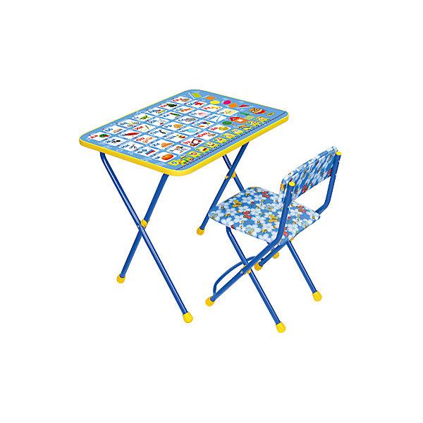 Набор мебели Азбука, КП2/9, НикаДетские столы и стулья<br>Набор детской мебели Азбука состоит из двух предметов: стол-парта и стульчик.  На крышке столика изображен алфавит с картинками. <br><br>Дополнительная информация:<br><br>В комплект входит стол-парта и стул с мягким сиденьем.<br>- Металлический каркас.<br>- Столешница облицована пленкой с тематическими рисунками.<br>- На ножках стула установлены пластмассовые наконечники.<br>- Размер столика: 59х45х57 см.<br>- Размер стула: высота до сиденья 32 см, высота со спинкой 56 см.<br>Сиденье: 30х27 см.<br>- Возраст: от 3-х лет<br><br>Набор мебели Азбука можно купить в нашем магазине.<br>Ширина мм: 580; Глубина мм: 120; Высота мм: 450; Вес г: 8000; Возраст от месяцев: 36; Возраст до месяцев: 84; Пол: Унисекс; Возраст: Детский; SKU: 4718350;