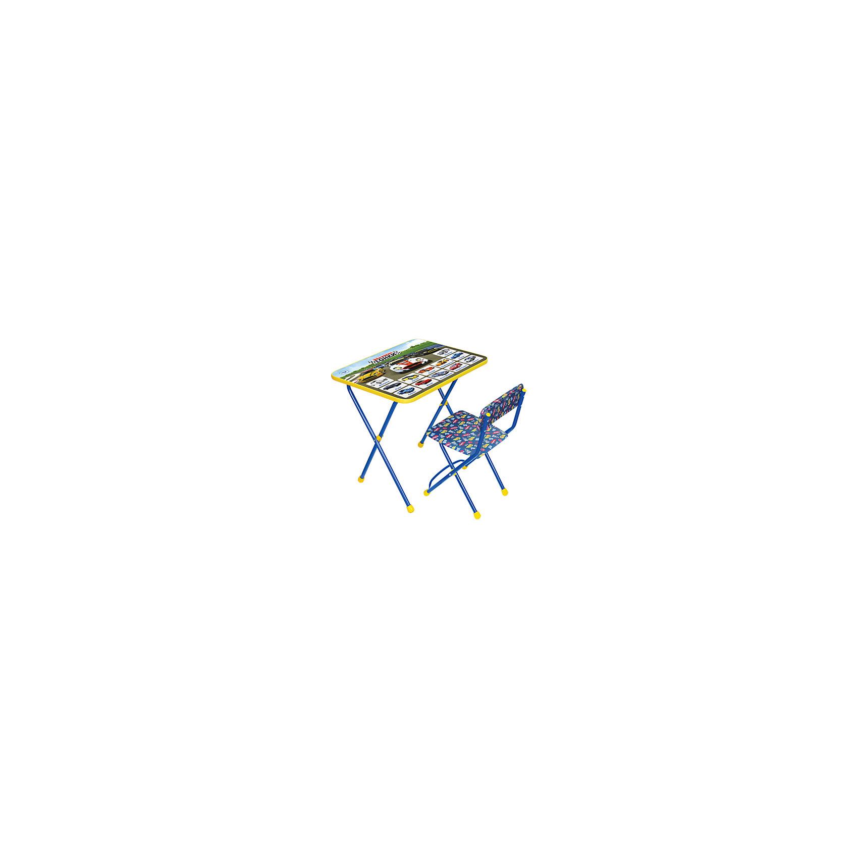 Набор мебели Большие гонкиНабор детской мебели Большие гонки состоит из двух предметов: стол-парта и стульчик.  На крышке столика изображен алфавит с картинками. <br><br>Дополнительная информация:<br><br>В комплект входит стол-парта и стул с мягким сиденьем.<br>- Металлический каркас.<br>- Столешница облицована пленкой с тематическими рисунками.<br>- На ножках стула установлены пластмассовые наконечники.<br>- Размер столика: 59х45х57 см.<br>- Размер стула: высота до сиденья 32 см, высота со спинкой 56 см.<br>Сиденье: 30х27 см.<br>- Возраст: от 3-х лет<br><br>Набор мебели Большие гонки можно купить в нашем магазине.<br><br>Ширина мм: 580<br>Глубина мм: 120<br>Высота мм: 450<br>Вес г: 8000<br>Возраст от месяцев: 36<br>Возраст до месяцев: 108<br>Пол: Унисекс<br>Возраст: Детский<br>SKU: 4718351