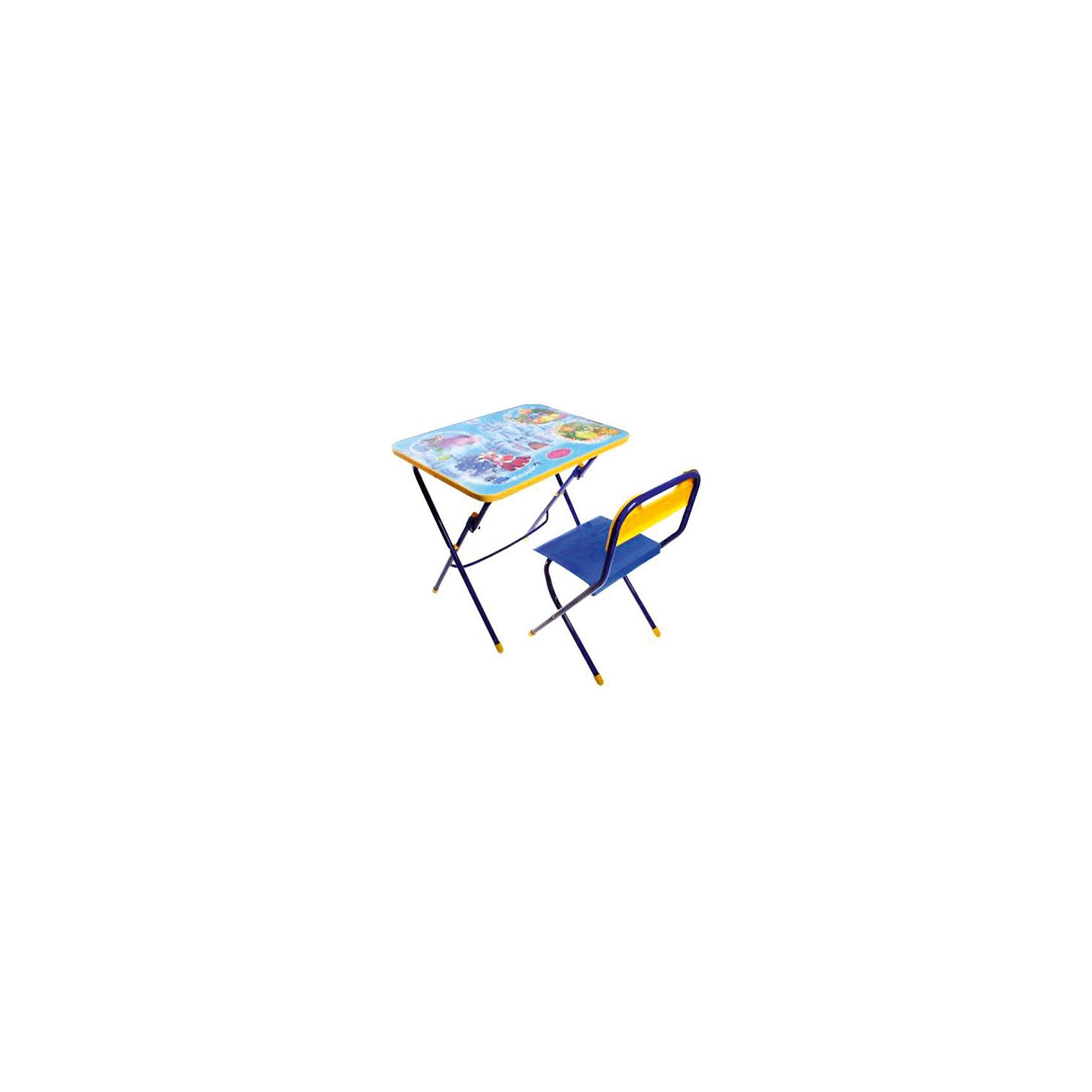 Набор мебели Волшебный мир принцессМебель<br>Набор детской мебели Волшебный мир принцесс состоит из двух предметов: стол-парта и стульчик.  На крышке столика изображены рисунки способствующие развитию ребенка.<br><br>Дополнительная информация:<br><br>В комплект входит стол-парта и стул с пластиковым сиденьем.<br>- Металлический каркас.<br>- Столешница облицована пленкой с тематическими рисунками.<br>- На ножках стула установлены пластмассовые наконечники.<br>- Размер столика: 60х45х57 см.<br>- Размер стула: высота до сиденья 34 см, высота со спинкой 59 см.<br>Сиденье: 30х30 см.<br>- Возраст: от 3-х лет<br><br>Набор мебели Волшебный мир принцесс можно купить в нашем магазине.<br><br>Ширина мм: 580<br>Глубина мм: 120<br>Высота мм: 450<br>Вес г: 7050<br>Возраст от месяцев: 36<br>Возраст до месяцев: 108<br>Пол: Унисекс<br>Возраст: Детский<br>SKU: 4718358