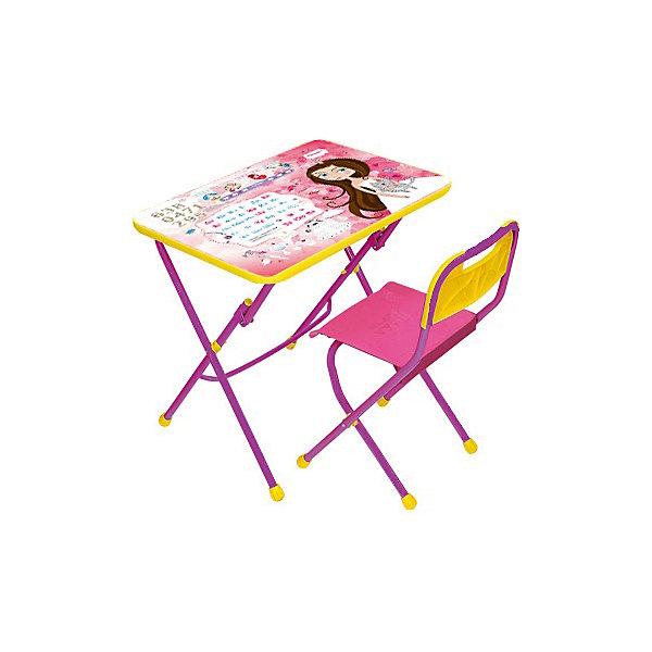 Набор мебели Маленькая принцессаДетские столы и стулья<br>Набор детской мебели Маленькая принцесса состоит из двух предметов: стол-парта и стульчик.  На крышке столика изображены рисунки способствующие развитию ребенка.<br><br><br>Дополнительная информация:<br><br>В комплект входит стол-парта и стул с пластиковым сиденьем.<br>- Металлический каркас.<br>- Столешница облицована пленкой с тематическими рисунками.<br>- На ножках стула установлены пластмассовые наконечники.<br>- Размер столика: 60х45х57 см.<br>- Размер стула: высота до сиденья 34 см, высота со спинкой 59 см.<br>Сиденье: 30х30 см.<br>- Возраст: от 3-х лет<br><br>Набор мебели Маленькая принцесса можно купить в нашем магазине.<br><br>Ширина мм: 580<br>Глубина мм: 120<br>Высота мм: 450<br>Вес г: 7050<br>Возраст от месяцев: 36<br>Возраст до месяцев: 108<br>Пол: Унисекс<br>Возраст: Детский<br>SKU: 4718359