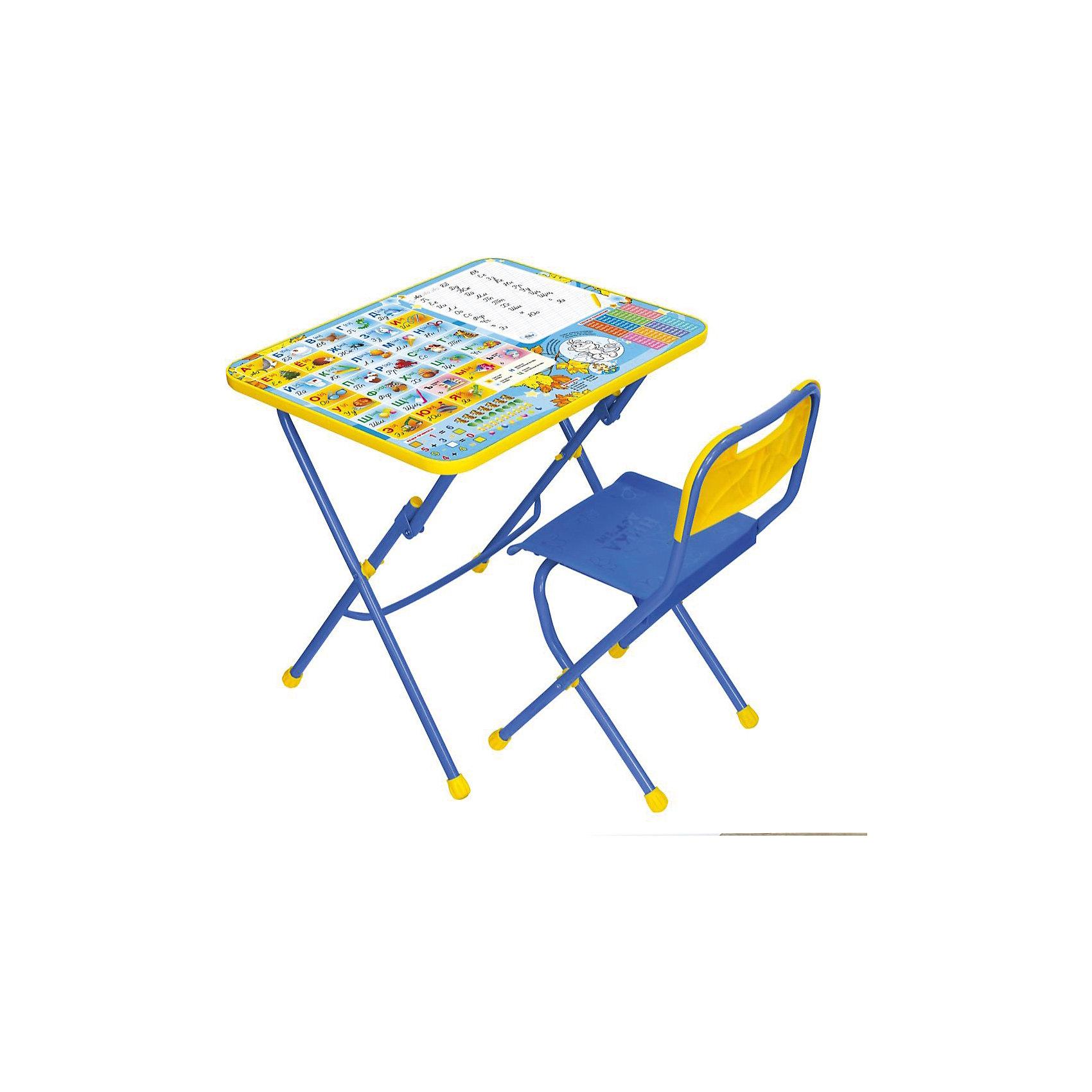 Набор мебели Первоклашка, осеньНабор детской мебели Первоклашка состоит из двух предметов: стол-парта и стульчик.  На крышке столика изображены рисунки способствующие развитию ребенка.<br>При необходимости, стол и стул возможно сложить, они очень компактны в собранном виде, это дает возможность использования данного комплекта мебели даже в небольшой комнате. <br><br>Дополнительная информация:<br><br>В комплект входит стол-парта и стул с пластиковым сиденьем.<br>- Металлический каркас.<br>- Столешница облицована пленкой с тематическими рисунками.<br>- На ножках стула установлены пластмассовые наконечники.<br>- Размер столика: 60х45х57 см.<br>- Размер стула: высота до сиденья 34 см, высота со спинкой 59 см.<br>Сиденье: 30х30 см.<br>- Возраст: от 3-х лет<br><br>Набор мебели Первоклашка осень, можно купить в нашем магазине.<br><br>Ширина мм: 580<br>Глубина мм: 120<br>Высота мм: 450<br>Вес г: 7050<br>Возраст от месяцев: 36<br>Возраст до месяцев: 108<br>Пол: Унисекс<br>Возраст: Детский<br>SKU: 4718360