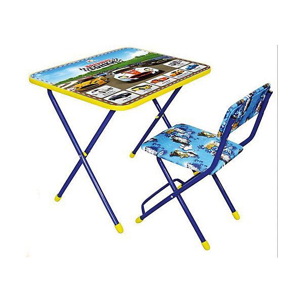 Набор мебели Большие гонкиДетские столы и стулья<br>Набор детской мебели Большие гонки состоит из двух предметов: стол-парта и стульчик.  На крышке столика изображены рисунки способствующие развитию ребенка.<br>При необходимости, стол и стул возможно сложить, они очень компактны в собранном виде, это дает возможность использования данного комплекта мебели даже в небольшой комнате. <br><br>Дополнительная информация:<br><br>В комплект входит стол-парта и стул с пластиковым сиденьем.<br>- Металлический каркас.<br>- Столешница облицована пленкой с тематическими рисунками.<br>- На ножках стула установлены пластмассовые наконечники.<br>- Размер столика: 60х45х57 см.<br>- Размер стула: высота до сиденья 34 см, высота со спинкой 59 см.<br>Сиденье: 30х30 см.<br>- Возраст: от 3-х лет<br><br>Набор мебели Большие гонки можно купить в нашем магазине<br><br>Ширина мм: 580<br>Глубина мм: 120<br>Высота мм: 450<br>Вес г: 7450<br>Возраст от месяцев: 36<br>Возраст до месяцев: 108<br>Пол: Унисекс<br>Возраст: Детский<br>SKU: 4718362