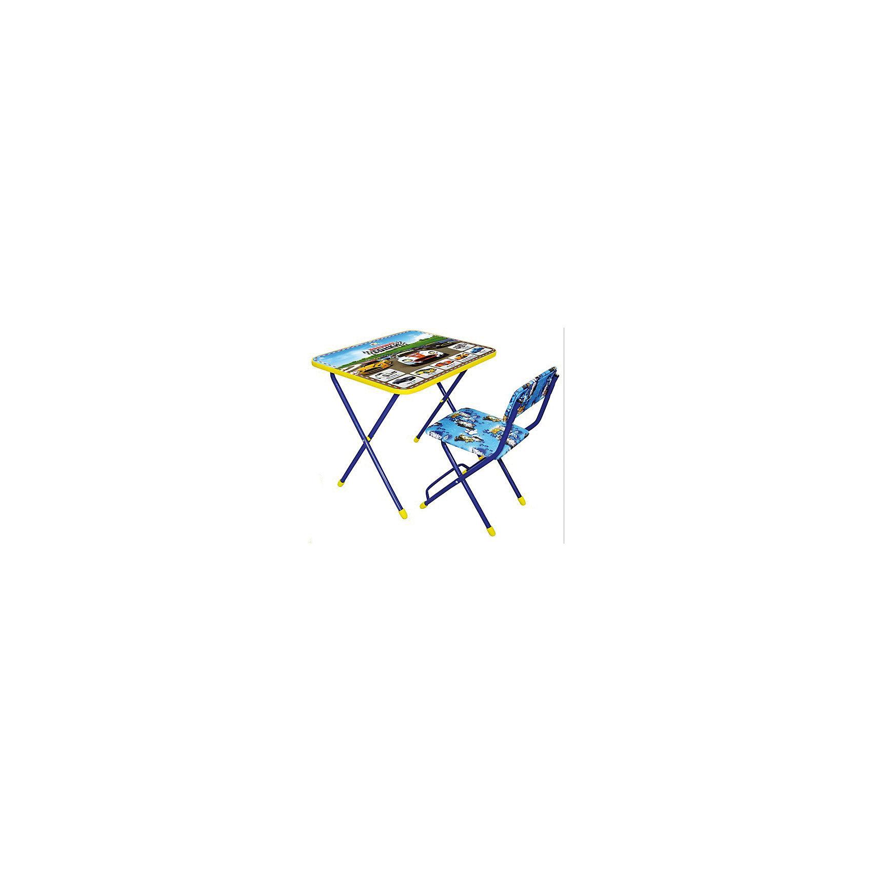 Набор мебели Большие гонкиСтолы и стулья<br>Набор детской мебели Большие гонки состоит из двух предметов: стол-парта и стульчик.  На крышке столика изображены рисунки способствующие развитию ребенка.<br>При необходимости, стол и стул возможно сложить, они очень компактны в собранном виде, это дает возможность использования данного комплекта мебели даже в небольшой комнате. <br><br>Дополнительная информация:<br><br>В комплект входит стол-парта и стул с пластиковым сиденьем.<br>- Металлический каркас.<br>- Столешница облицована пленкой с тематическими рисунками.<br>- На ножках стула установлены пластмассовые наконечники.<br>- Размер столика: 60х45х57 см.<br>- Размер стула: высота до сиденья 34 см, высота со спинкой 59 см.<br>Сиденье: 30х30 см.<br>- Возраст: от 3-х лет<br><br>Набор мебели Большие гонки можно купить в нашем магазине<br><br>Ширина мм: 580<br>Глубина мм: 120<br>Высота мм: 450<br>Вес г: 7450<br>Возраст от месяцев: 36<br>Возраст до месяцев: 108<br>Пол: Унисекс<br>Возраст: Детский<br>SKU: 4718362