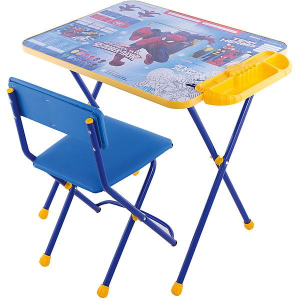 Набор мебели Человек ПаукЧеловек-Паук Детская комната и посуда<br>Набор детской мебели Человек Паук состоит из трех предметов: стол-парта и стульчик и пластиковый пенал. За столиком можно рисовать, играть, принимать пищу, заниматься, учится, а для того чтобы не затерялись письменные принадлежности, на кромке стола есть специальный пенальчик. <br>При необходимости, стол и стул возможно сложить, они очень компактны в собранном виде, это дает возможность использования данного комплекта мебели даже в небольшой комнате. <br><br>Дополнительная информация:<br><br>В комплект входит стол-парта и стул, пенал( пластиковый).<br>- Металлический каркас.<br>- Столешница облицована пленкой с тематическими рисунками.<br>- На ножках стула установлены пластмассовые наконечники.<br>- Размер столика: 60х45х52 см.<br>- Размер стула: высота до сиденья 29 см, высота со спинкой 54 см.<br>Сиденье: 29х26 см.<br>- Возраст: от 1,5 лет<br><br>Набор мебели Человек Паук  можно купить в нашем магазине.<br>Ширина мм: 650; Глубина мм: 600; Высота мм: 700; Вес г: 8000; Возраст от месяцев: 36; Возраст до месяцев: 108; Пол: Унисекс; Возраст: Детский; SKU: 4718364;