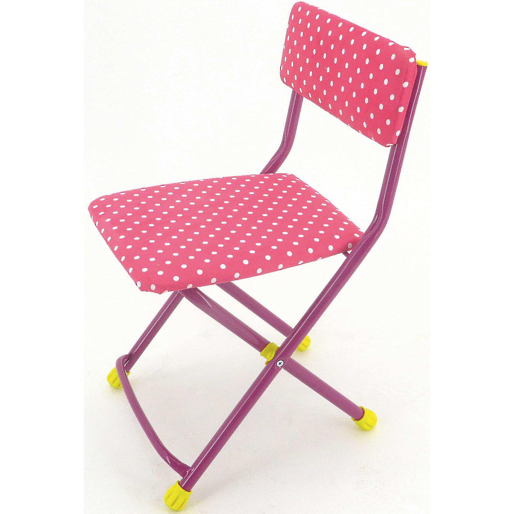 Ника Розовый складной стул Горошек купить фурнитуру для складной двери