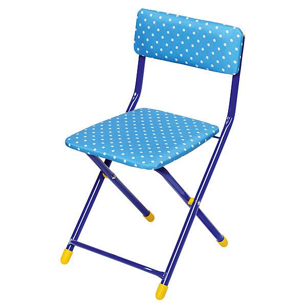 Складной стул СТУ3 Горошек, Ника, синийДетские столы и стулья<br>Стул предназначен для кормления, поэтому после еды его спокойно можно помыть за ребенком, если испачкался. Складной стул выполнен из металлического каркаса. Сиденье имеет мягкую обивку ярких расцветок. На ножках стула установлены пластмассовые наконечники.<br><br>Дополнительная информация:<br><br>- Возраст: от 3 лет.<br>- Обшивка стирается<br>- Материал: пластик и метал.<br>- Цвет: синий.<br><br>Детский складной стул Горошек в синем цвете можно купить в нашем магазине.<br><br>Ширина мм: 590<br>Глубина мм: 120<br>Высота мм: 300<br>Вес г: 2400<br>Возраст от месяцев: 36<br>Возраст до месяцев: 84<br>Пол: Унисекс<br>Возраст: Детский<br>SKU: 4718366