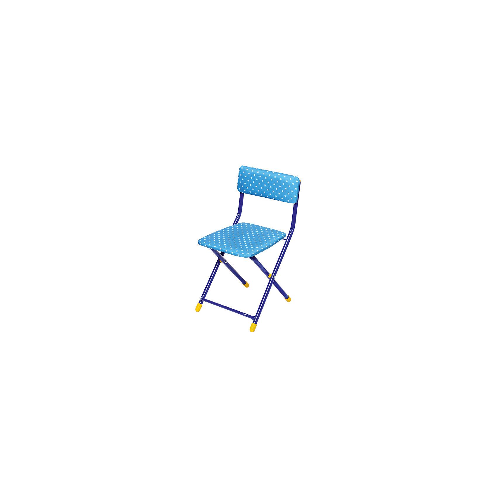 Ника Синий складной стул Горошек купить фурнитуру для складной двери