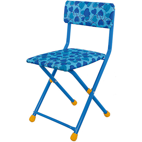 Складной стул СТУ3 Сердечки, Ника, голубой