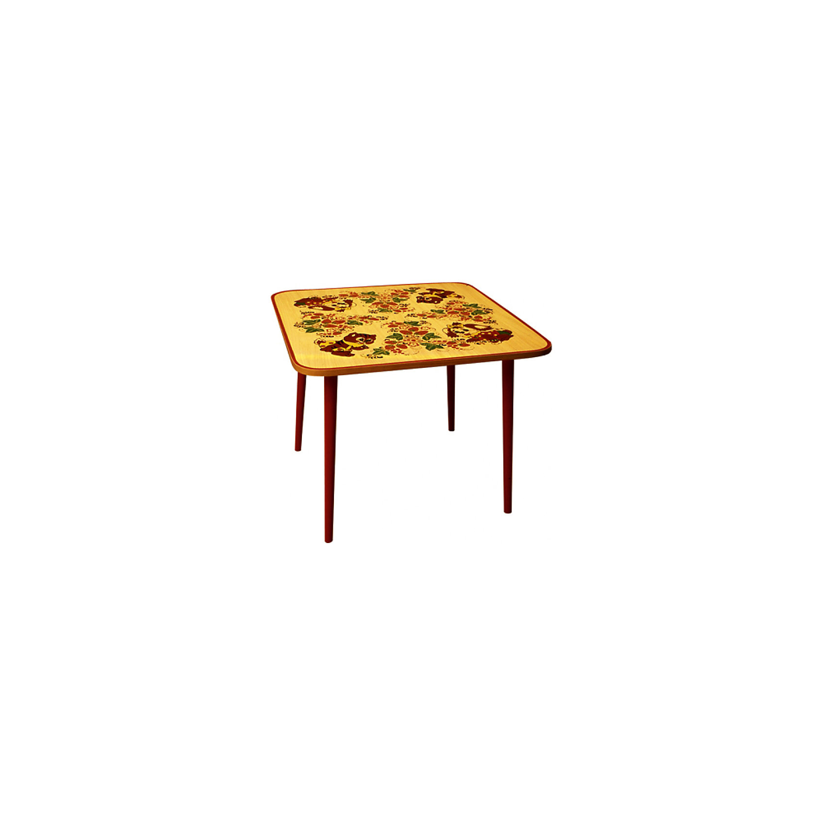 Стол Зверьки с  художественной росписьюКрасочный квадратный столик со сказочными рисунками лесных зверьков выполнен из массива. Его поверхность пропитана варёным льняным маслом и покрыта алюминиевым порошком и росписью. На поверхность стола также нанесены несколько слоев лака. Столик очень прочный и устойчивый, покрытие закалено при особом температурном режиме и не будет отслаиваться или облупливаться при частой влажной уборке.<br><br>Дополнительная информация:<br><br>- Возраст: от 6 мес.<br>- Материал: дерево.<br>- Цвет: орнамент - Хохломская роспись  зверьки. <br>- Параметры стола: 65х65х52 см.<br><br>Детский столик Зверьки с художественной росписью,  можно купить в нашем магазине.<br><br>Ширина мм: 650<br>Глубина мм: 650<br>Высота мм: 520<br>Вес г: 8000<br>Возраст от месяцев: 36<br>Возраст до месяцев: 108<br>Пол: Унисекс<br>Возраст: Детский<br>SKU: 4718374