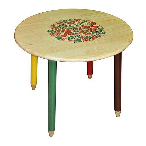 Стол СветлячокДетские столы и стулья<br>Красочный круглый столик со сказочными рисунками выполнен из массива. Его поверхность пропитана варёным льняным маслом и покрыта алюминиевым порошком и росписью. На поверхность стола также нанесены несколько слоев лака. Столик очень прочный и устойчивый, покрытие закалено при особом температурном режиме и не будет отслаиваться или облупливаться при частой влажной уборке.<br><br>Дополнительная информация:<br><br>- Возраст: от 6 мес.<br>- Материал: дерево.<br>- Цвет: орнамент - светлячок. <br>- Параметры стола:<br>   Диаметр стола 65 см,<br>   Высота 58 см.<br><br>Детский столик Светлячок можно купить в нашем магазине.<br>Ширина мм: 650; Глубина мм: 650; Высота мм: 580; Вес г: 5600; Возраст от месяцев: 36; Возраст до месяцев: 108; Пол: Унисекс; Возраст: Детский; SKU: 4718375;