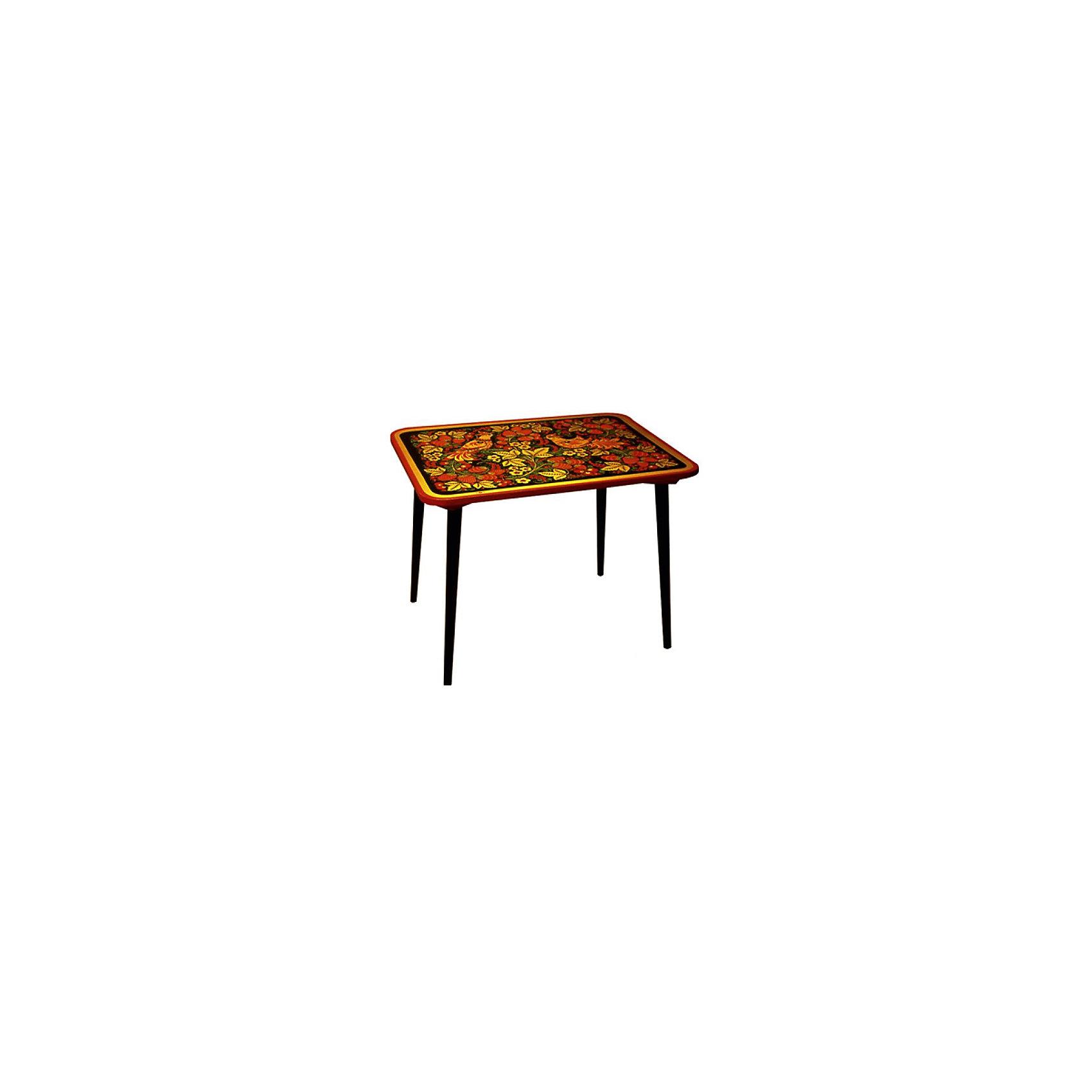 Стол ДетствоМебель<br>Красочный  столик со сказочными рисунками выполнен из массива. Его поверхность пропитана варёным льняным маслом и покрыта алюминиевым порошком и росписью. На поверхность стола также нанесены несколько слоев лака. Столик очень прочный и устойчивый, покрытие закалено при особом температурном режиме и не будет отслаиваться или облупливаться при частой влажной уборке.<br><br>Дополнительная информация:<br><br>- Возраст: от 6 мес.<br>- Материал: дерево.<br>- Цвет: орнамент - Хохломская роспись детство. <br>- Параметры стола: 60х45х46 см.<br> <br><br>Детский столик Детство можно купить в нашем магазине.<br><br>Ширина мм: 600<br>Глубина мм: 450<br>Высота мм: 460<br>Вес г: 7000<br>Возраст от месяцев: 36<br>Возраст до месяцев: 108<br>Пол: Унисекс<br>Возраст: Детский<br>SKU: 4718376