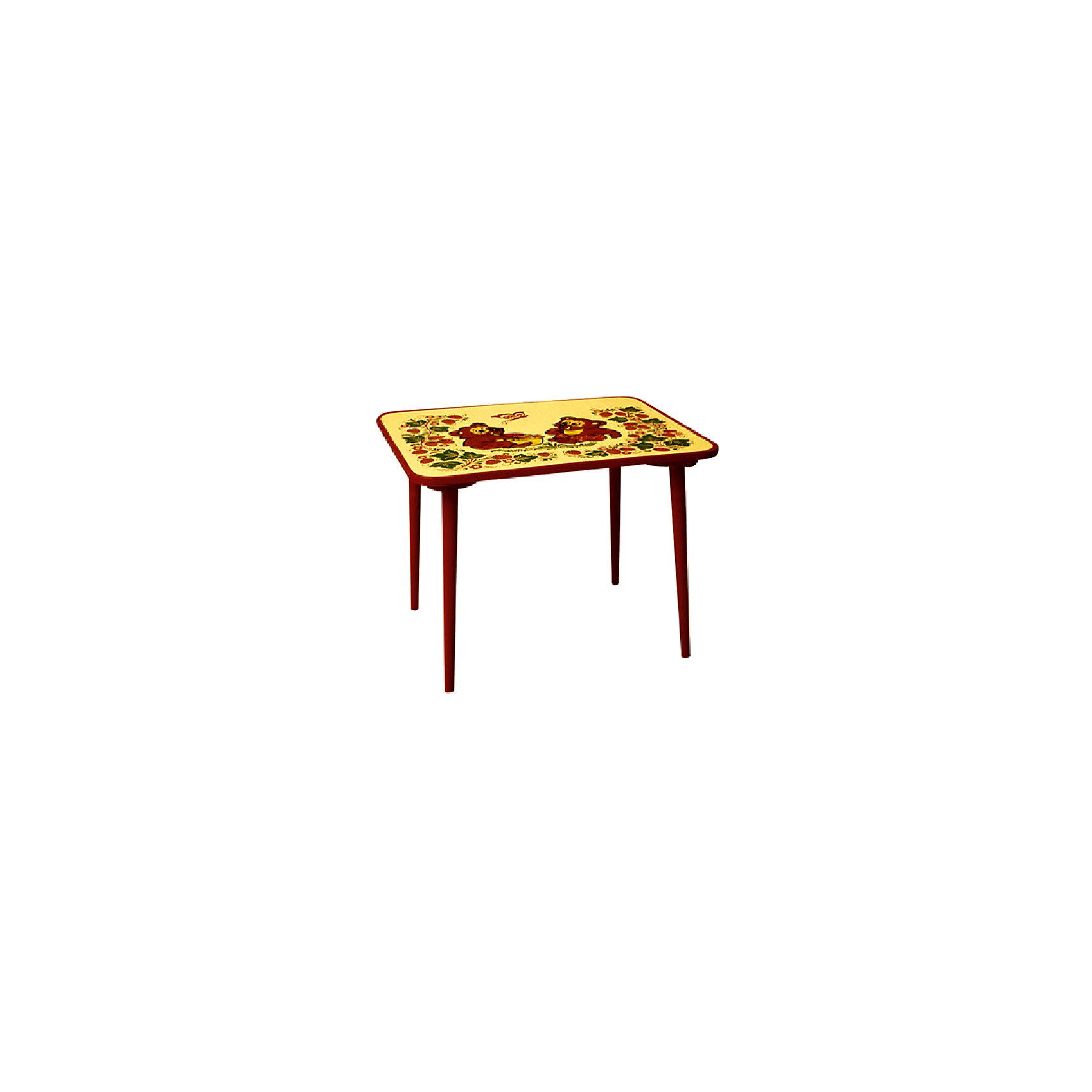 Стол ЗверькиКрасочный  столик со сказочными рисунками выполнен из массива. Его поверхность пропитана варёным льняным маслом и покрыта алюминиевым порошком и росписью. На поверхность стола также нанесены несколько слоев лака. Столик очень прочный и устойчивый, покрытие закалено при особом температурном режиме и не будет отслаиваться или облупливаться при частой влажной уборке.<br><br>Дополнительная информация:<br><br>- Возраст: от 6 мес.<br>- Материал: дерево.<br>- Цвет: орнамент - Хохломская роспись зверьки. <br>- Параметры стола: 60х45х46 см.<br> <br><br>Детский столик Зверьки можно купить в нашем магазине.<br><br>Ширина мм: 600<br>Глубина мм: 450<br>Высота мм: 460<br>Вес г: 7000<br>Возраст от месяцев: 36<br>Возраст до месяцев: 108<br>Пол: Унисекс<br>Возраст: Детский<br>SKU: 4718377