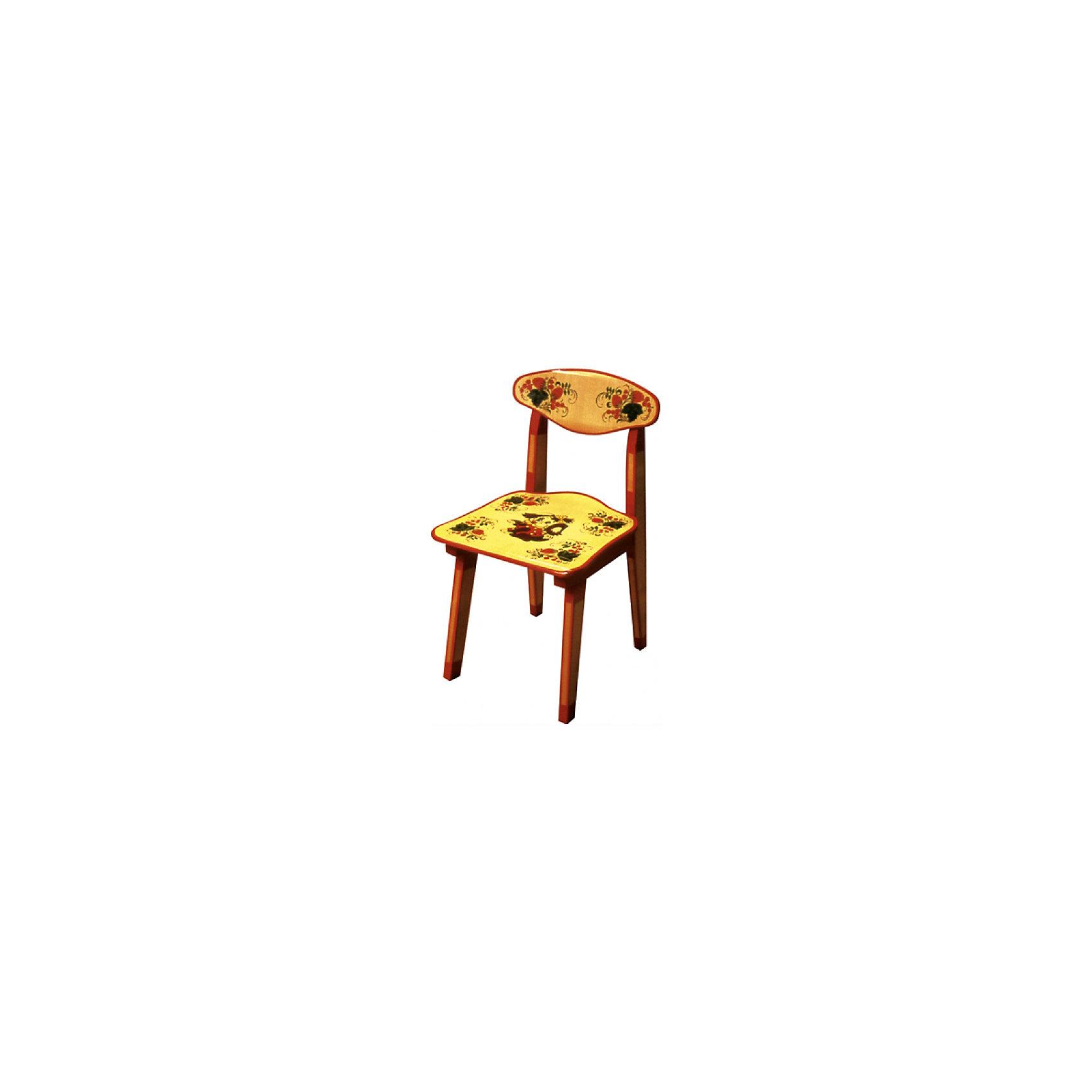 Стул ЗверькиТакой сказочный стульчик был практически у каждого в детстве, так пусть и вашего ребенка радует!<br>Яркий красочный стульчик прекрасно подойдет к столу, выполненному в такой же стилистике. Роспись сделана по золотому фону традиционными красным и темно-коричневым цветами. Стул изготовлен из дерева, пропитан льняным маслом и покрыт росписью и безвредным для ребенка лаком. Стул очень прочный и устойчивый, покрытие закалено при особом температурном режиме и не будет отслаиваться или облупливаться при частой влажной уборке.<br><br>Дополнительная информация:<br><br>- Материал: дерево.<br>- Цвет: орнамент -  Хохломская роспись зверьки. <br>- Высота: 43,5 см.<br>- Сидение: 30х29 см.<br><br>Детский стул Зверькиможно купить в нашем магазине.<br><br>Ширина мм: 435<br>Глубина мм: 120<br>Высота мм: 300<br>Вес г: 1900<br>Возраст от месяцев: 24<br>Возраст до месяцев: 84<br>Пол: Унисекс<br>Возраст: Детский<br>SKU: 4718379