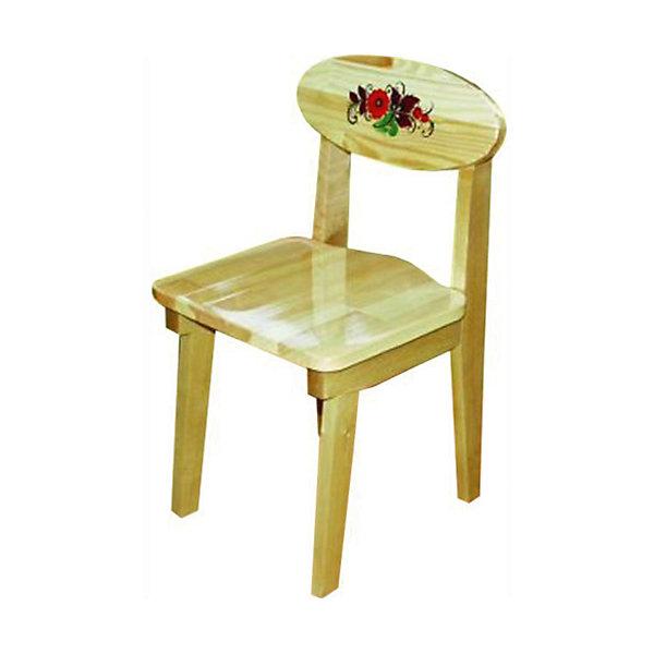 Стул с росписьюДетские столы и стулья<br>Такой сказочный стульчик был практически у каждого в детстве, так пусть и вашего ребенка радует!<br>Яркий красочный стульчик прекрасно подойдет к столу, выполненному в такой же стилистике. Роспись сделана по золотому фону традиционными красным и коричневыми цветами. Стул изготовлен из дерева, пропитан льняным маслом и покрыт росписью и безвредным для ребенка лаком. Стул очень прочный и устойчивый, покрытие закалено при особом температурном режиме и не будет отслаиваться или облупливаться при частой влажной уборке.<br><br>Дополнительная информация:<br><br>- Возраст: от 6 мес.<br>- Материал: дерево.<br>- Цвет: орнамент - Хохломская роспись .<br>- Параметры стола: Высота: 62 см.<br>                                      Сидение: 33х32 см.<br><br>Детский стул с росписью можно купить в нашем магазине.<br><br>Ширина мм: 620<br>Глубина мм: 120<br>Высота мм: 300<br>Вес г: 3100<br>Возраст от месяцев: 24<br>Возраст до месяцев: 84<br>Пол: Унисекс<br>Возраст: Детский<br>SKU: 4718384